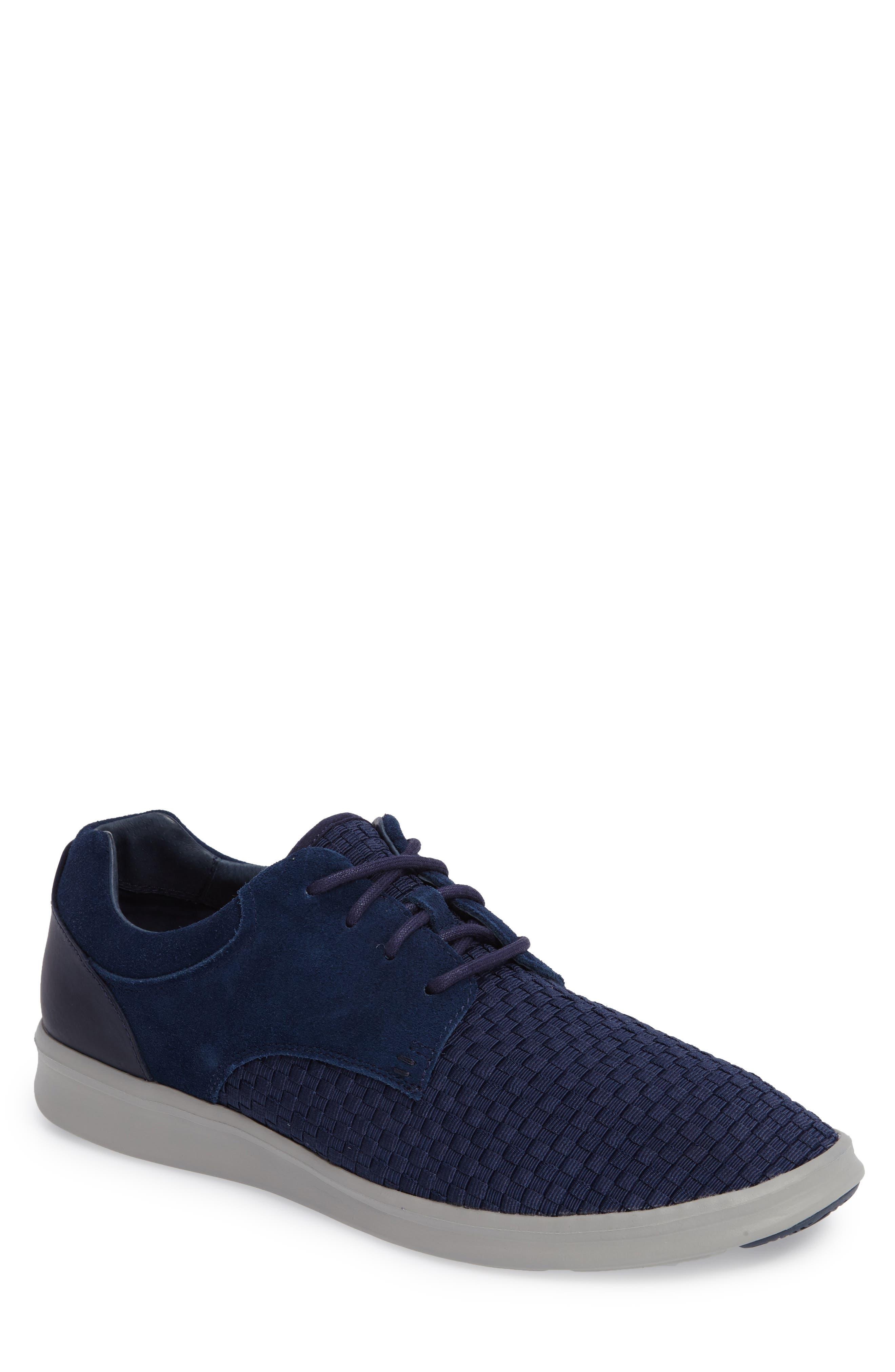 'Hepner' Woven Sneaker,                         Main,                         color, New Navy