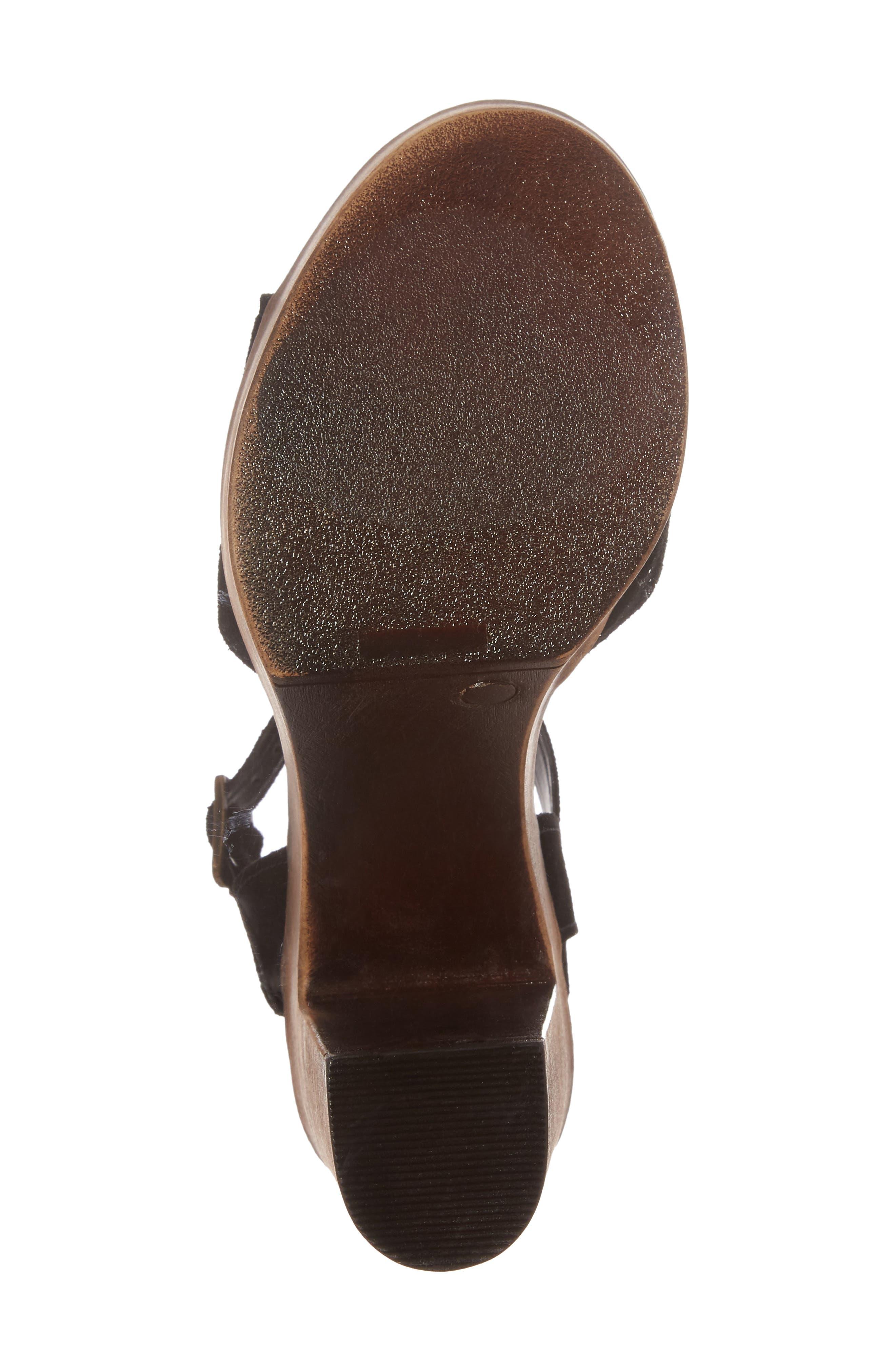 Lulla Platform Sandal,                             Alternate thumbnail 6, color,                             Black Suede