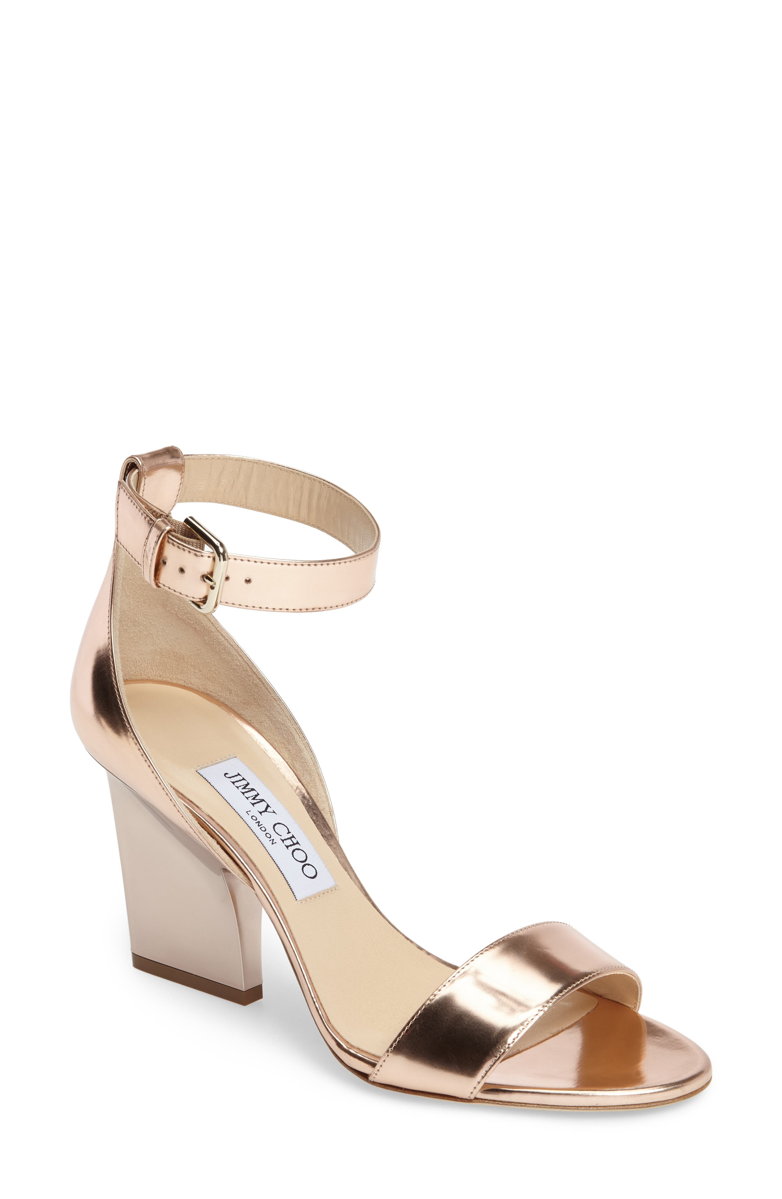 Alternate Image 1 Selected - Jimmy Choo Edina Ankle Strap Sandal (Women)