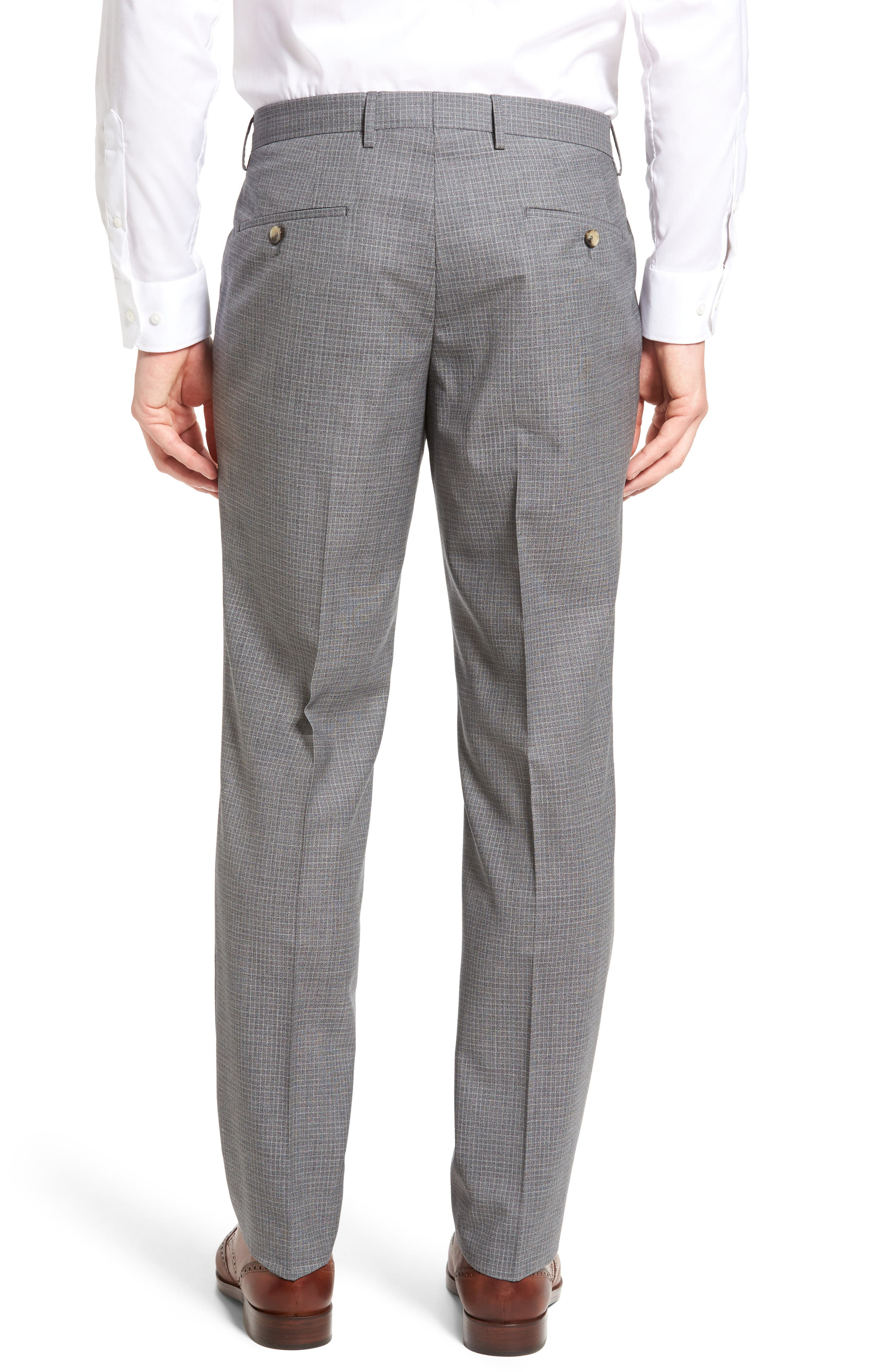 Alternate Image 2  - BOSS Genesis Flat Front Check Wool Trousers
