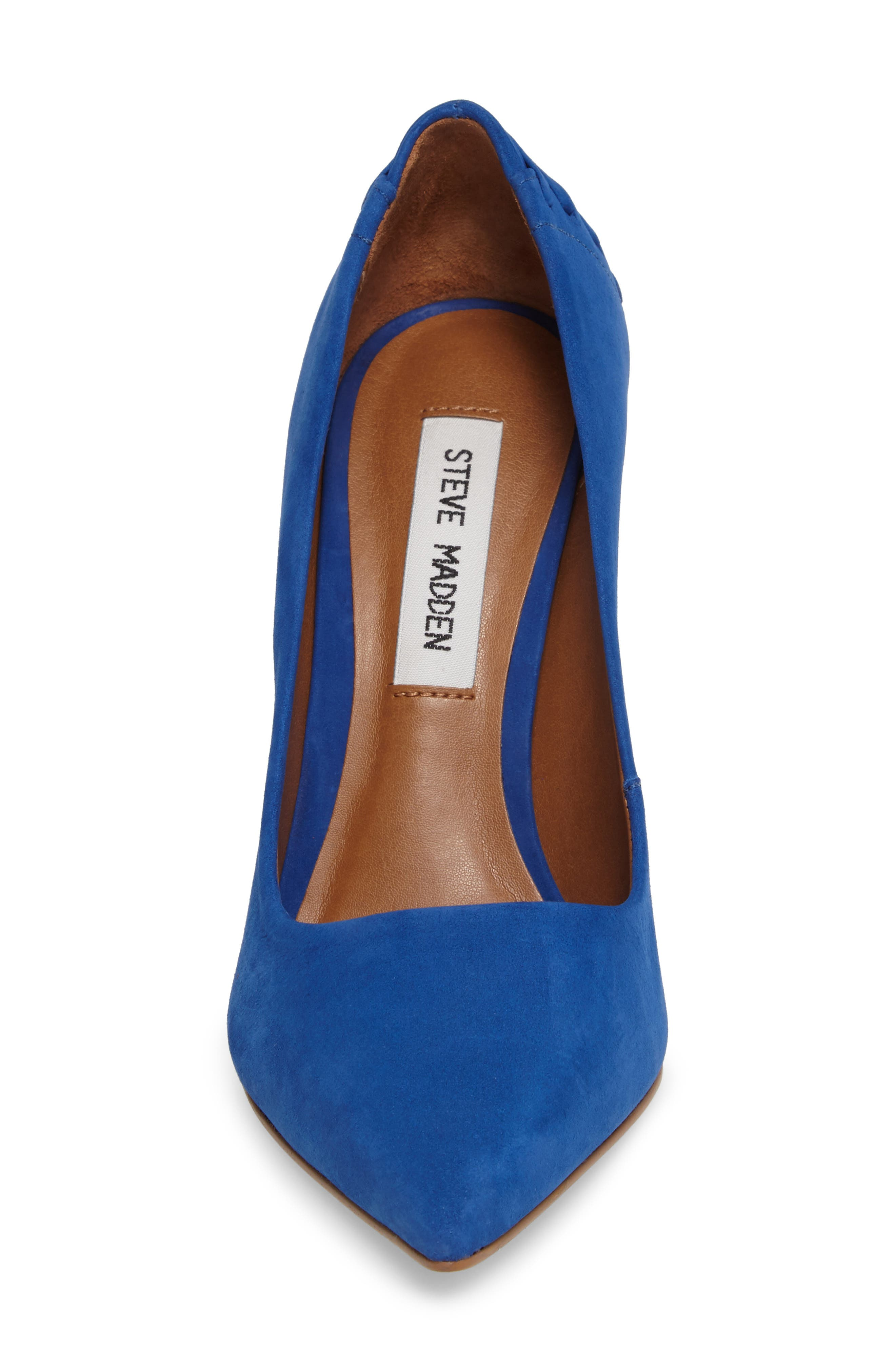 Paiton Laced Heel Pump,                             Alternate thumbnail 4, color,                             Blue Nubuck