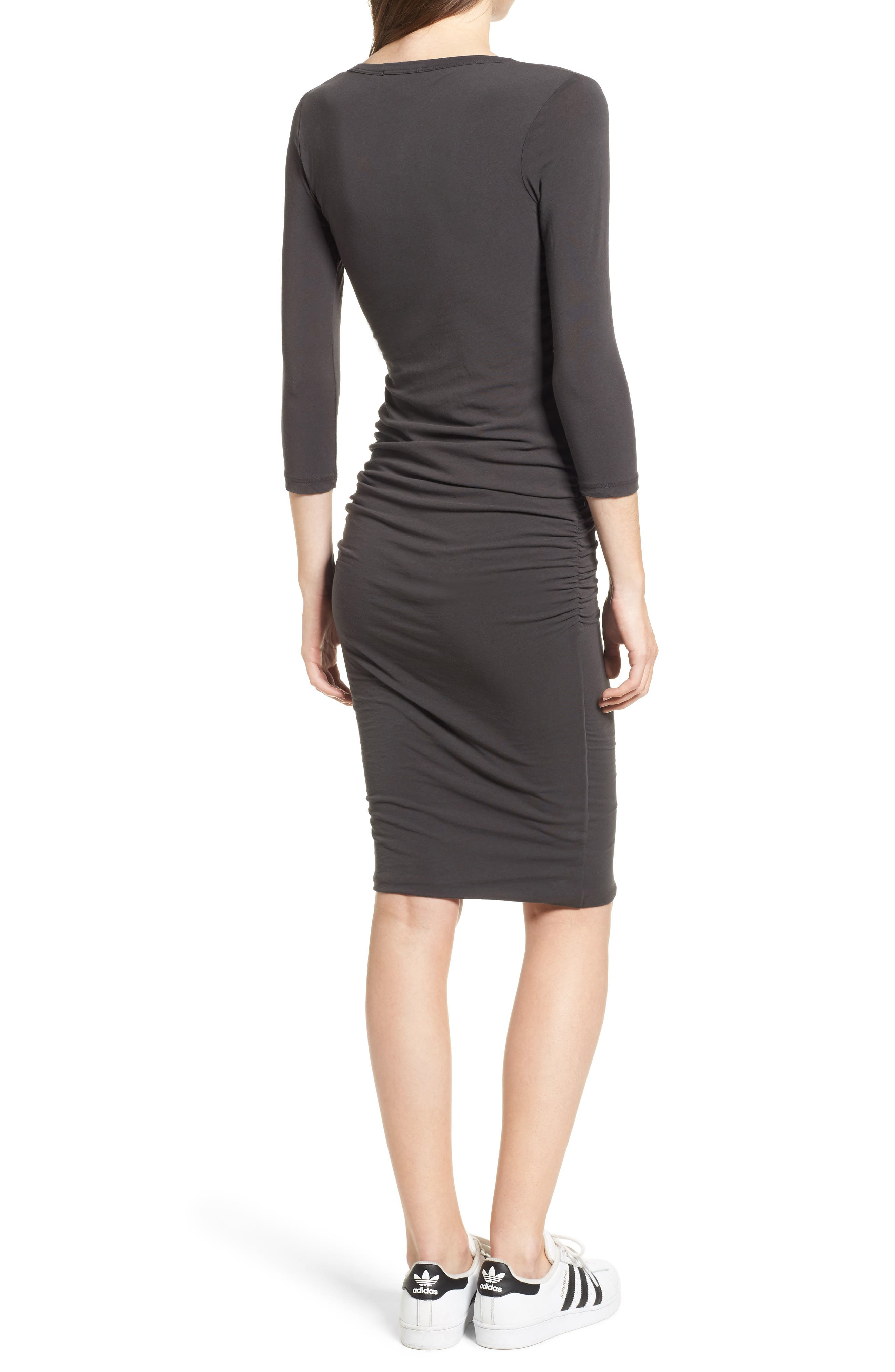 Alternate Image 2  - James Perse V-Neck Ruched Dress