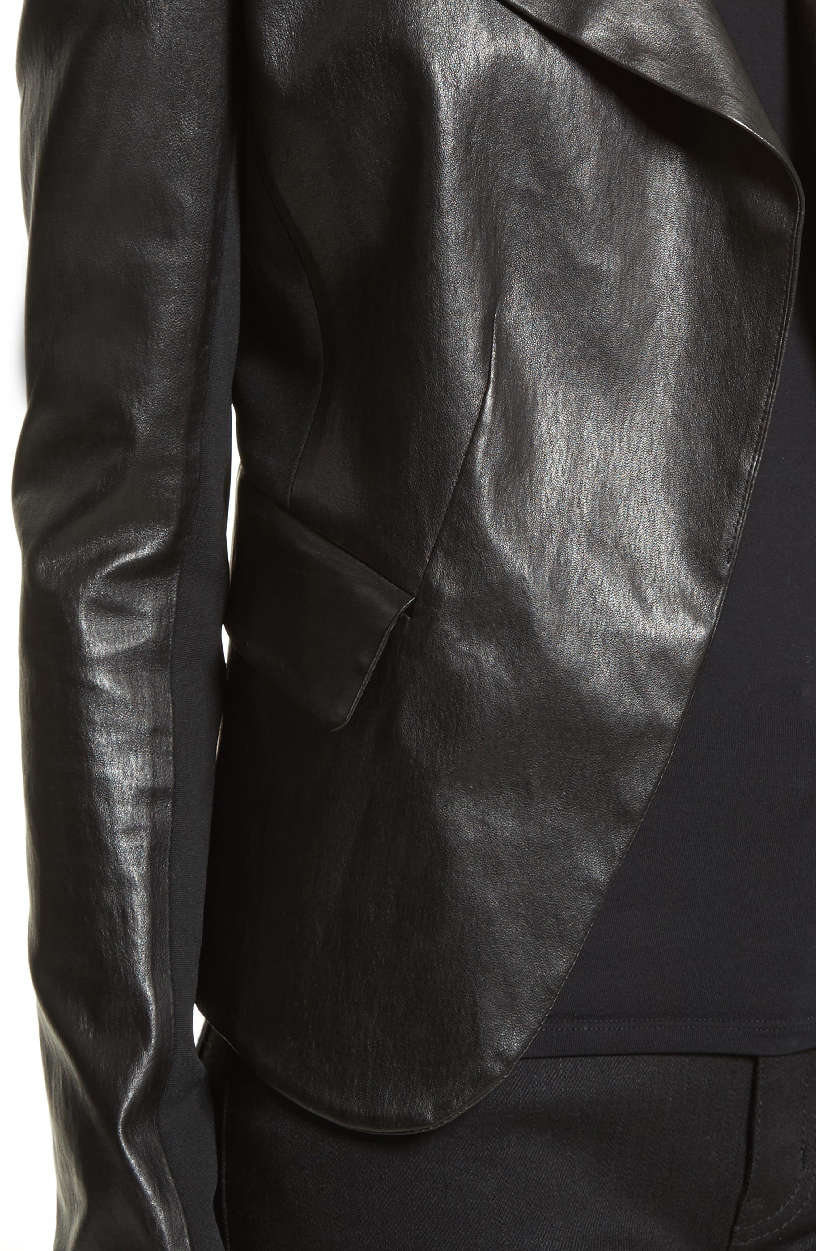 Alternate Image 4  - Theory Bristol Peplum Leather Jacket