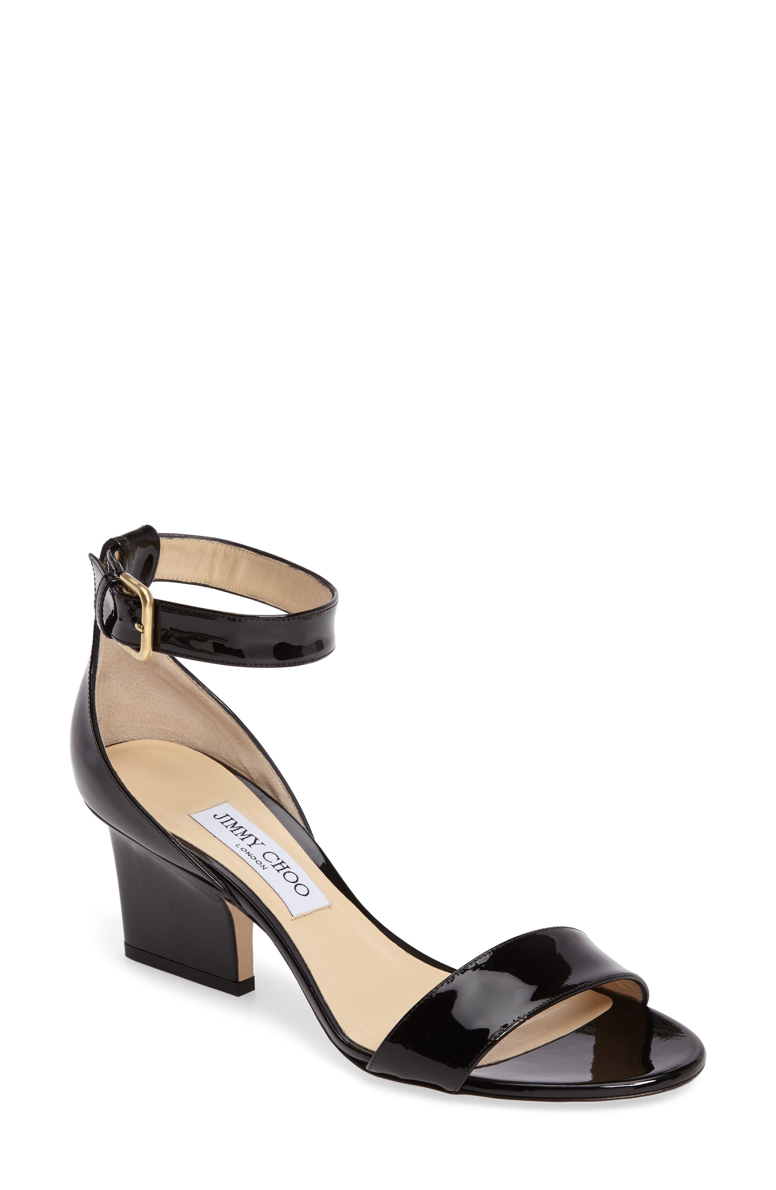 Sandals for Women On Sale, Black, Leather, 2017, 2.5 Jimmy Choo London