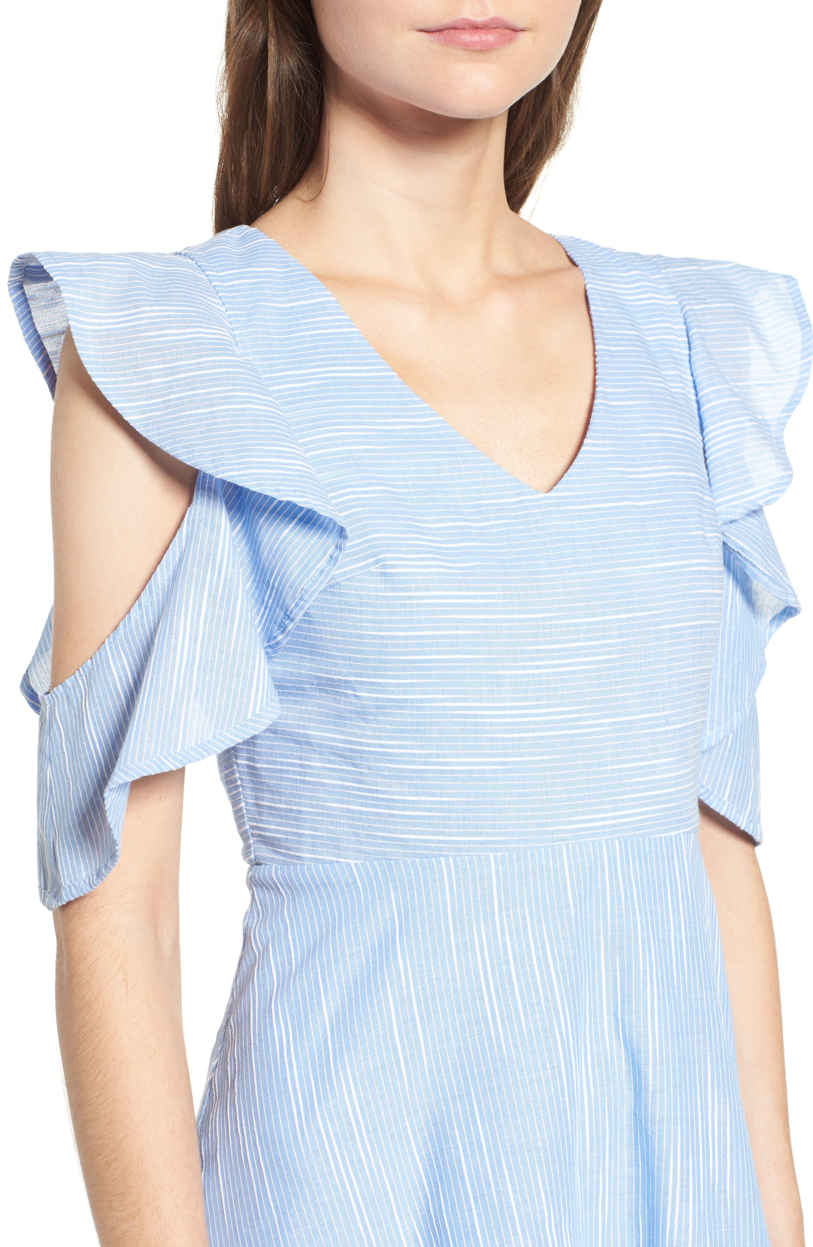Alternate Image 4  - J.O.A. Cotton Cold Shoulder Skater Dress