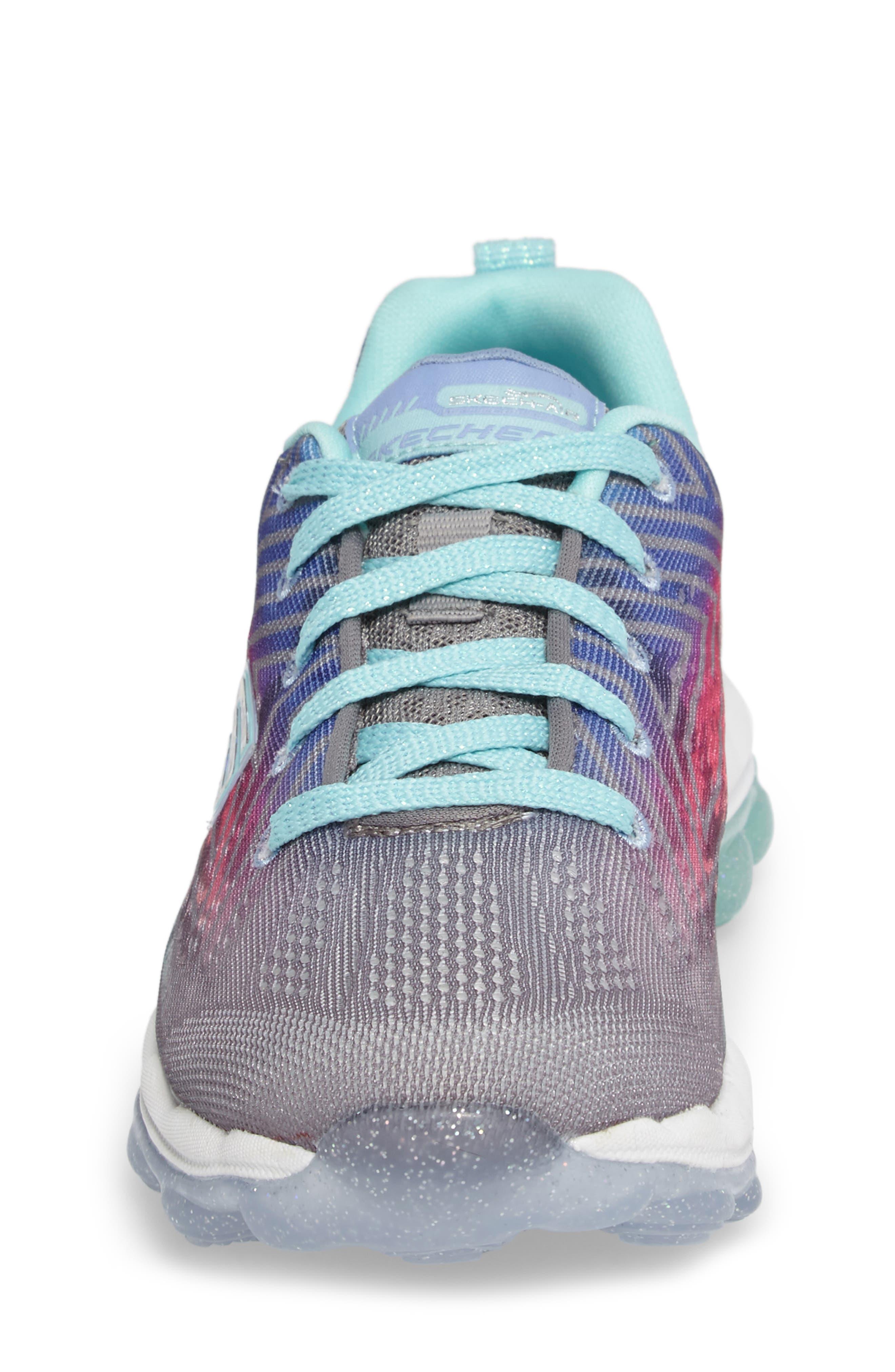 Skech-Air Jump Around Sneaker,                             Alternate thumbnail 4, color,                             Grey/ Multi