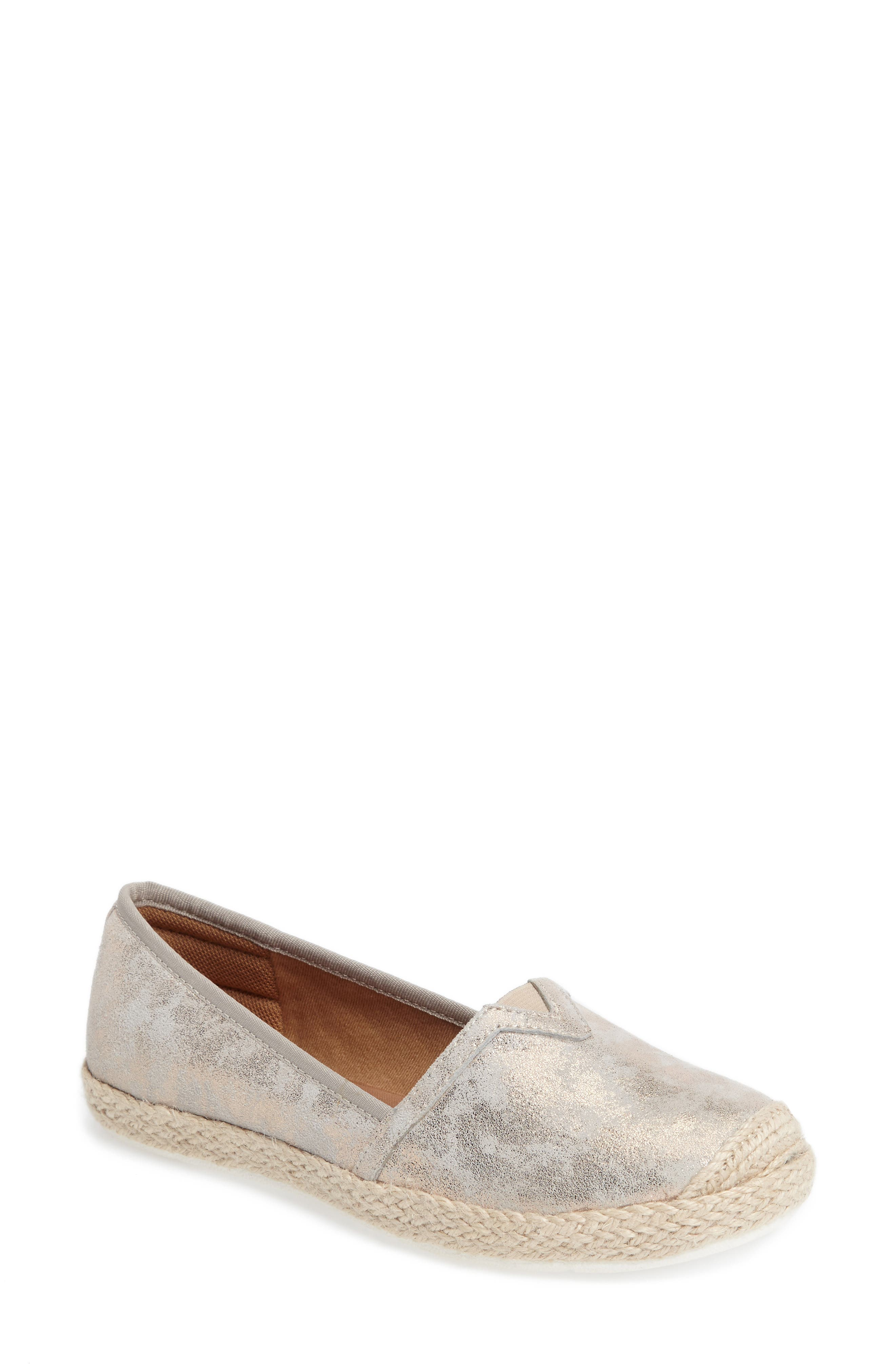 Sheridan Espadrille Flat,                             Main thumbnail 1, color,                             Ivory Suede