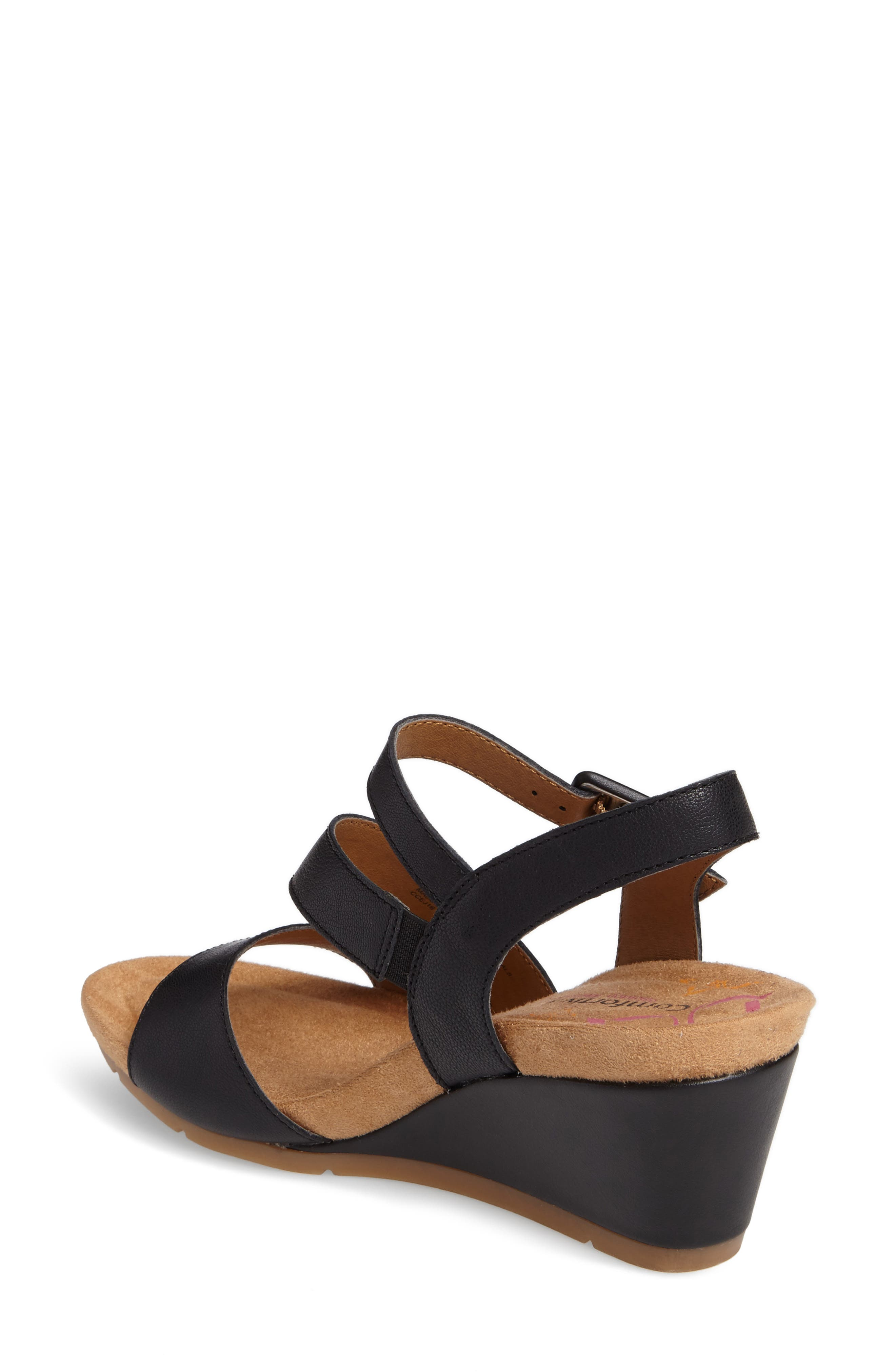 Alternate Image 2  - Comfortiva Violet Wedge Sandal (Women)