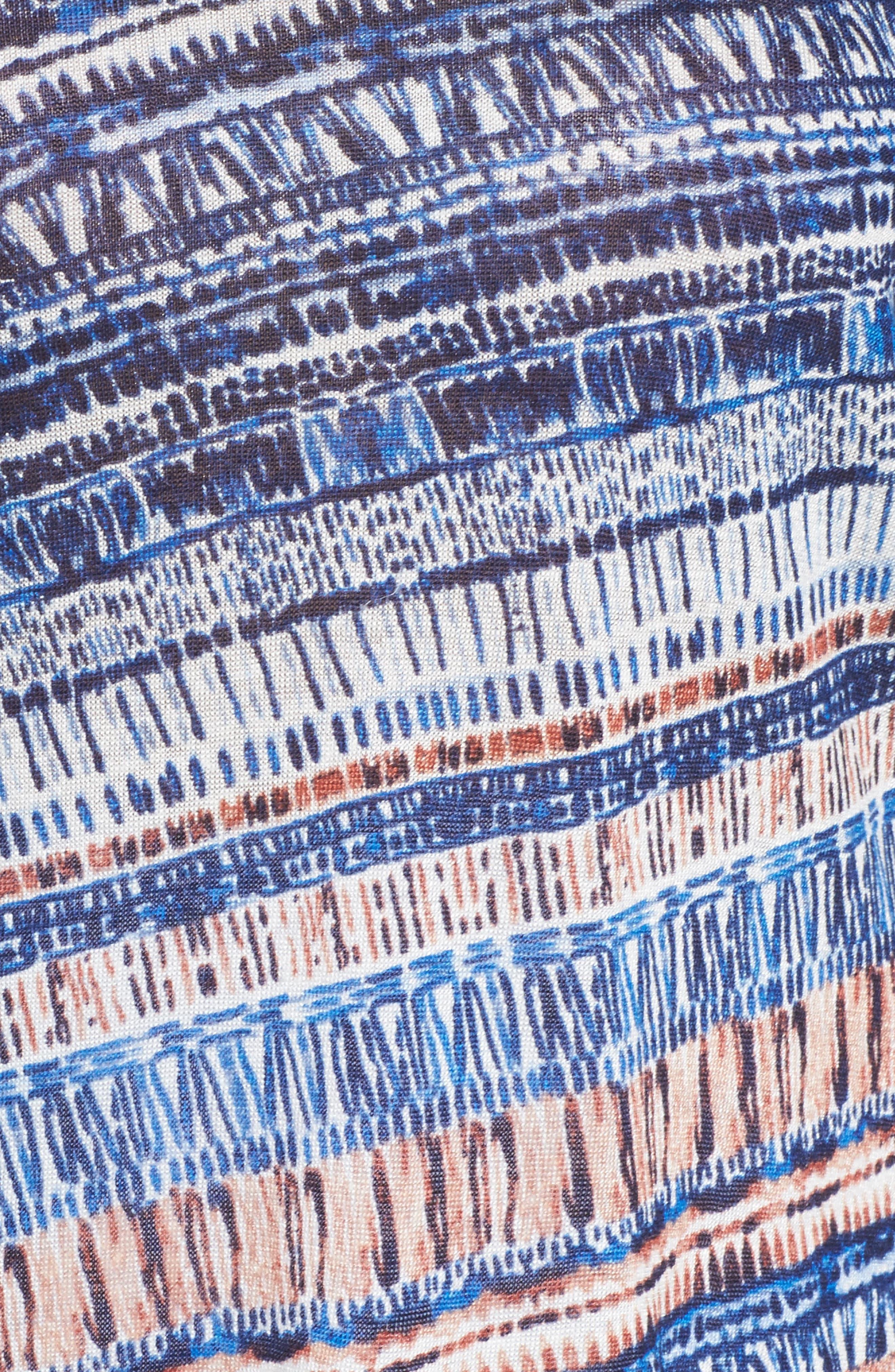 Oceanside Print Linen Blend Sweater,                             Alternate thumbnail 5, color,                             Multi