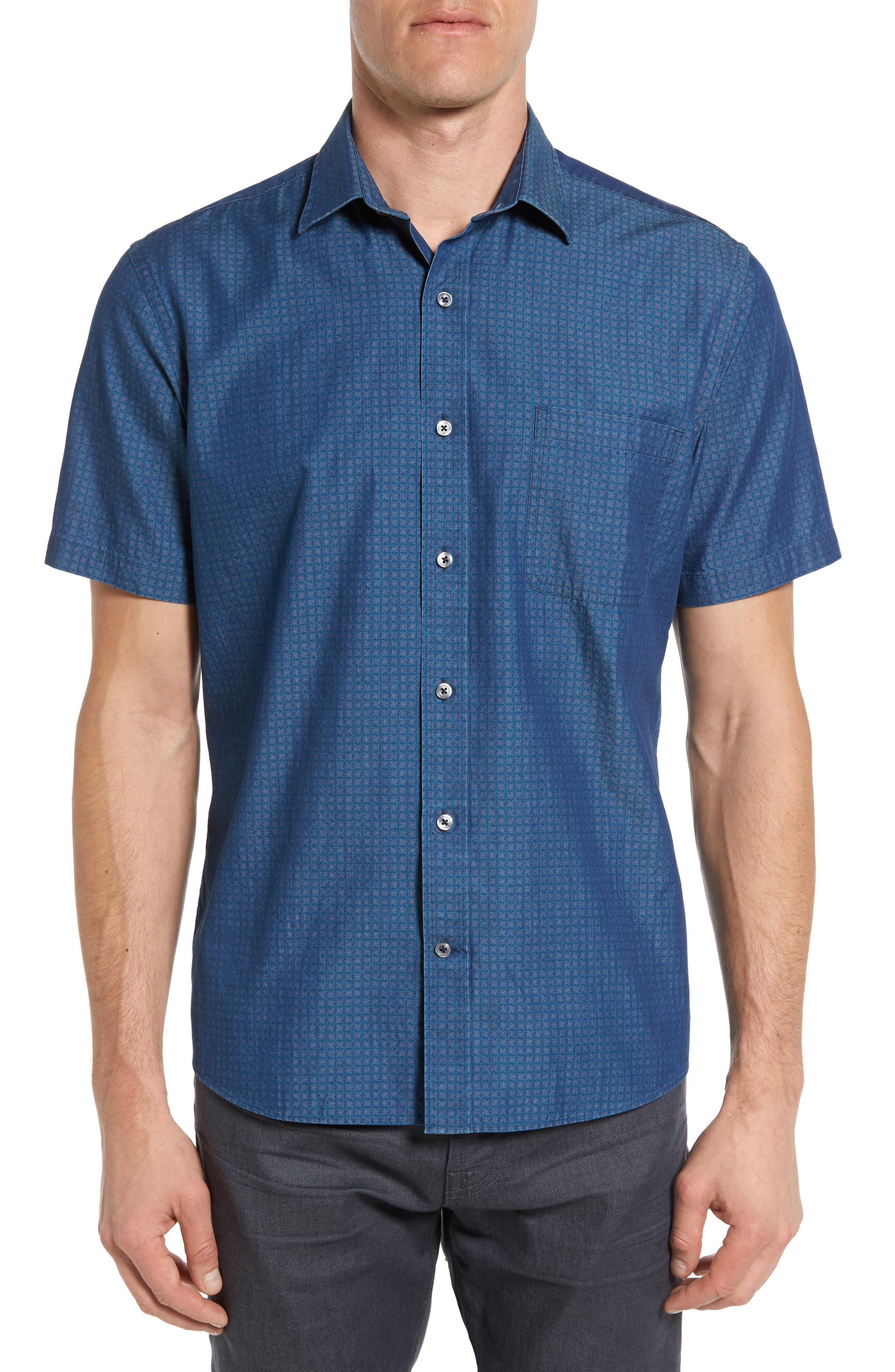 Maker & Company Tailored Fit Print Sport Shirt