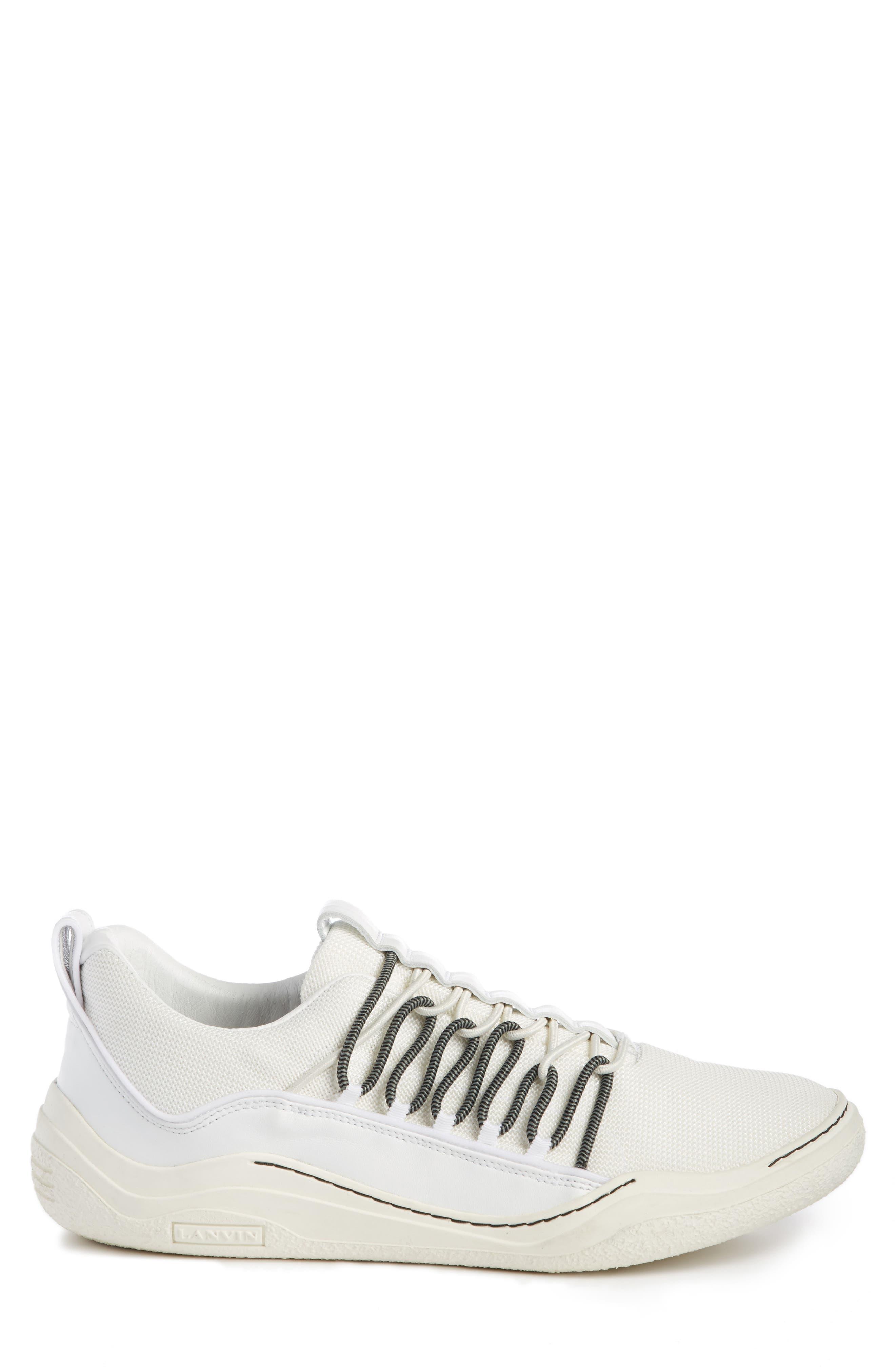 Elastic Sneaker,                             Alternate thumbnail 4, color,                             White