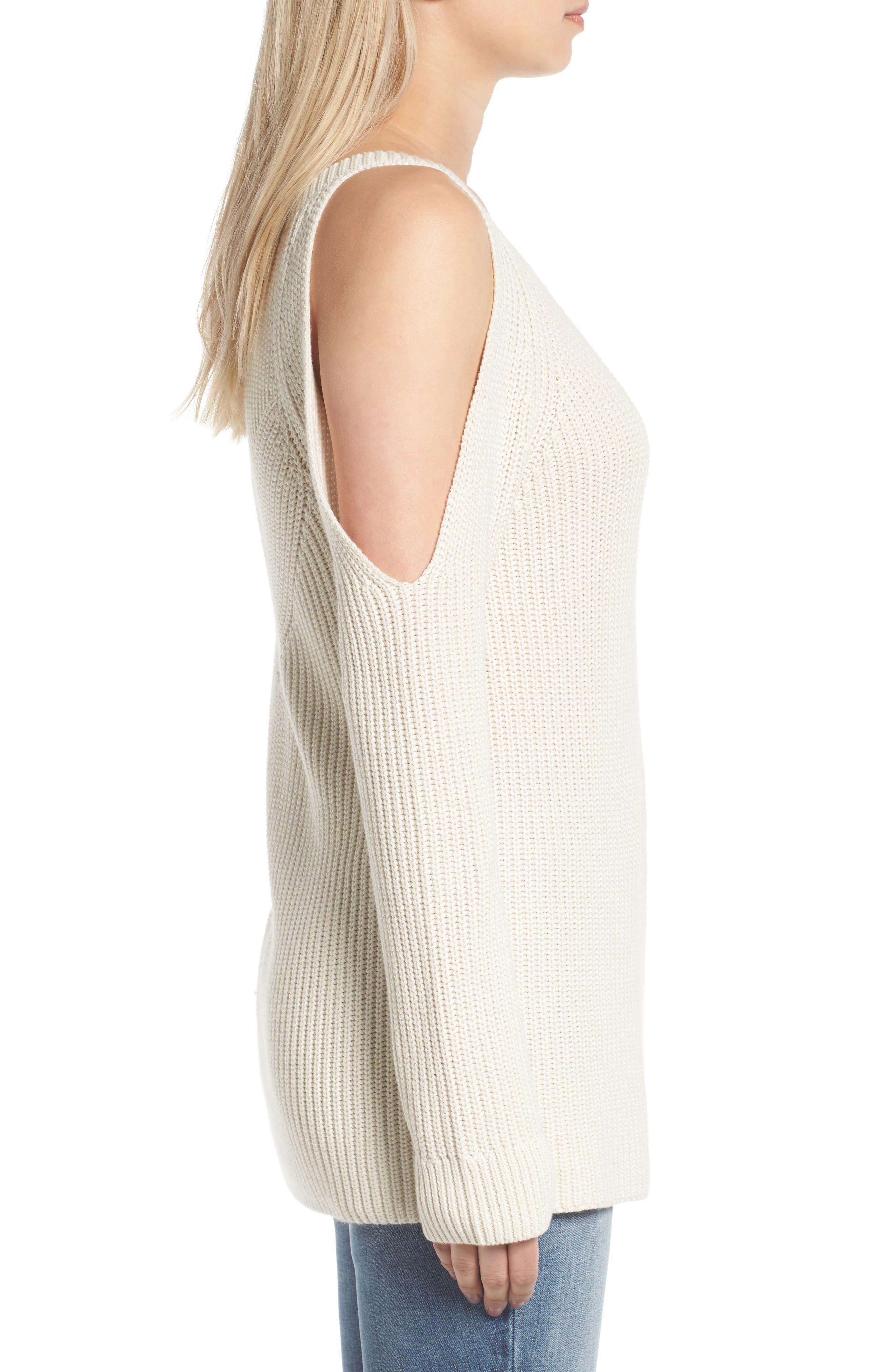Alternate Image 3  - Treasure & Bond Asymmetrical Cold Shoulder Sweater
