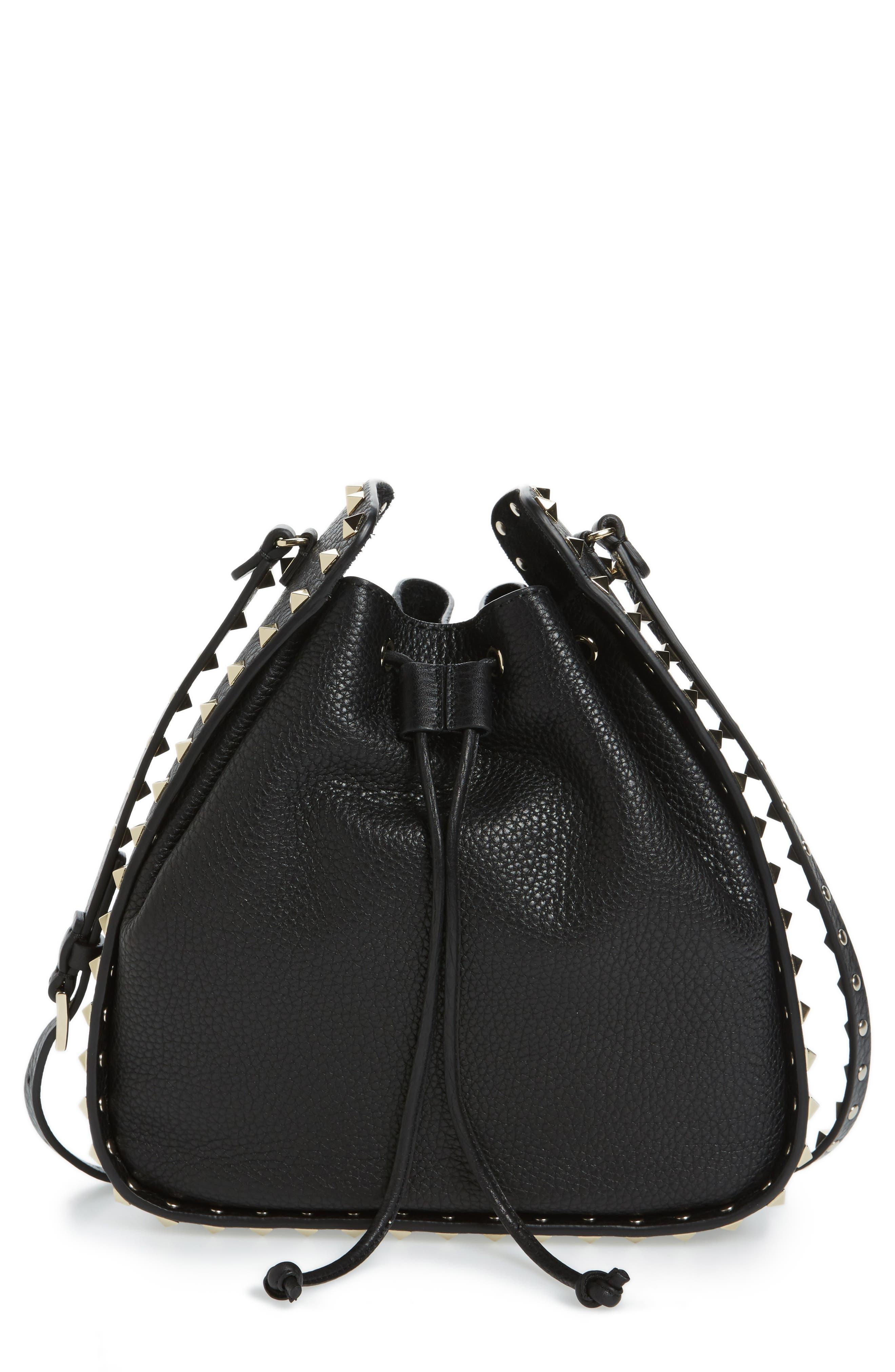 Main Image - VALENTINO GARAVANI Large Rockstud Leather Bucket Bag