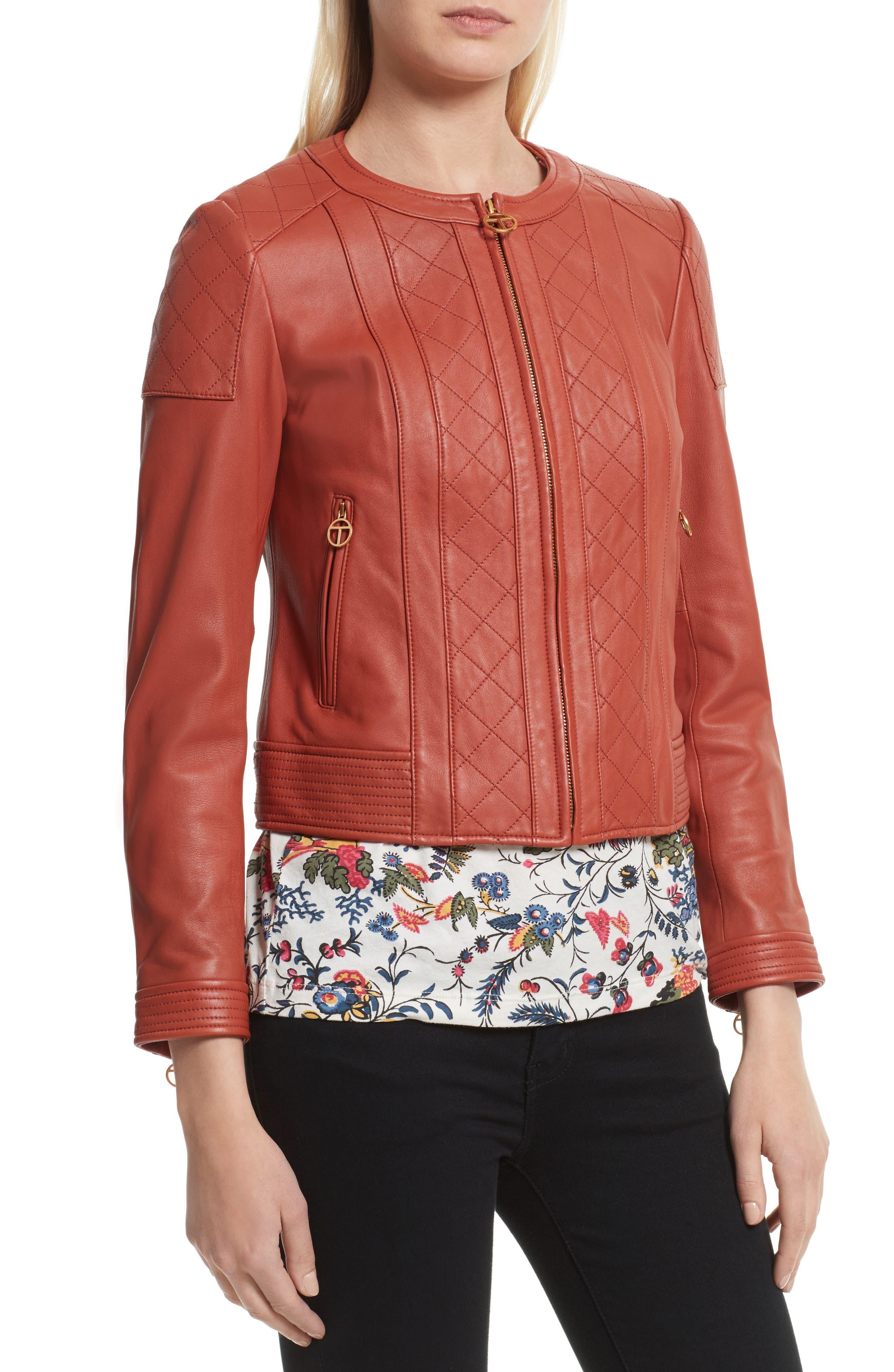 Alternate Image 4  - Tory Burch Ryder Leather Jacket