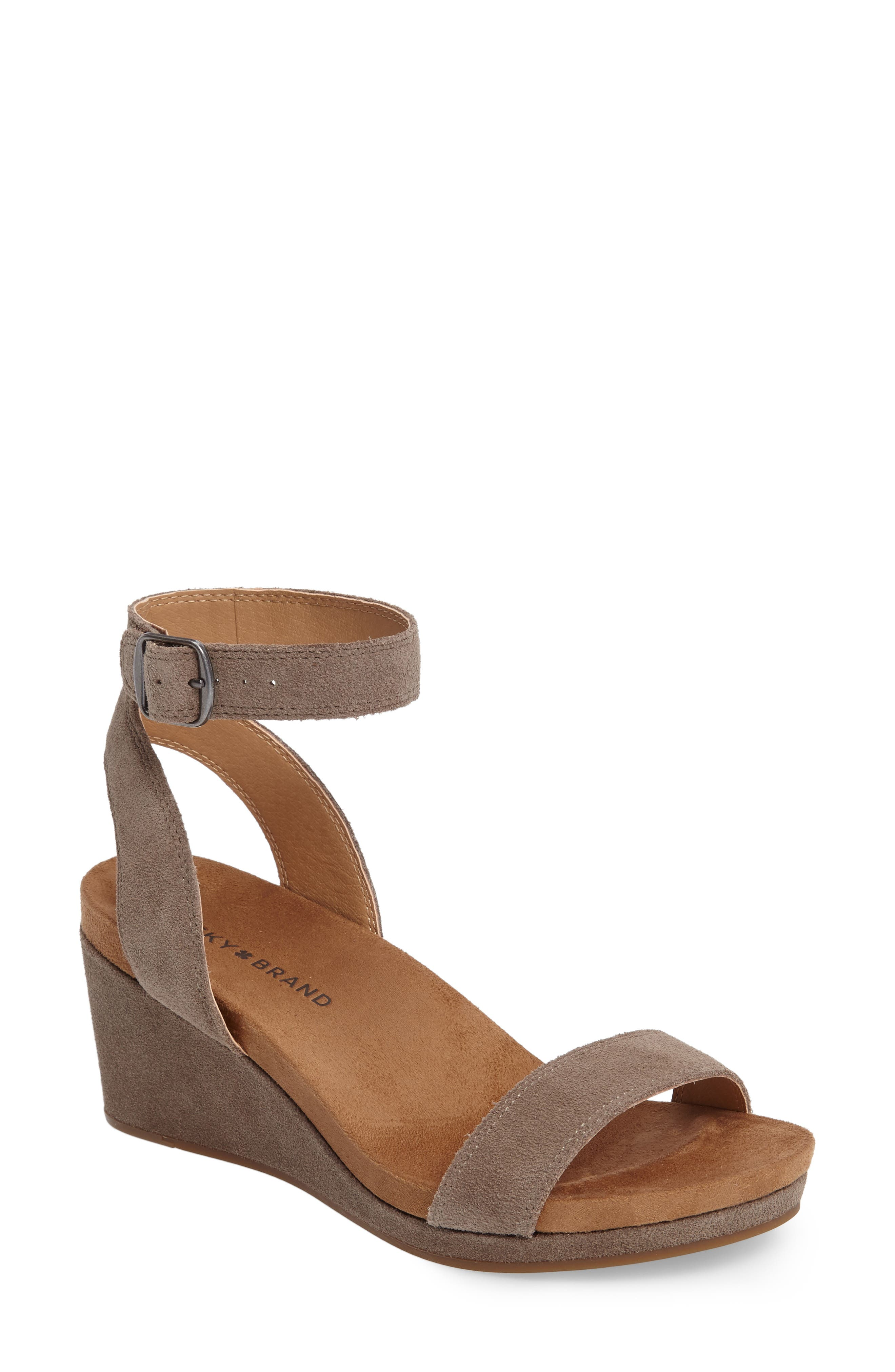 Lucky Brand Karston Wedge Sandal (Women)