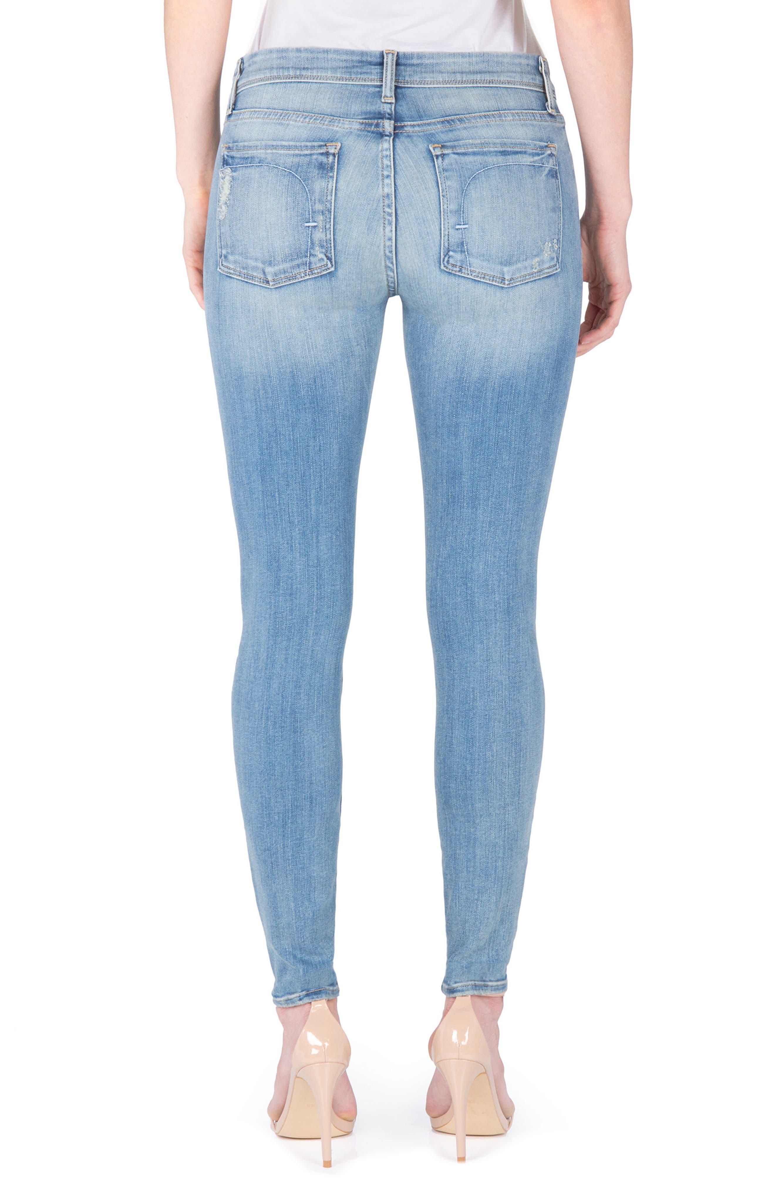 Mila Ankle Skinny Jeans,                             Alternate thumbnail 2, color,                             Princeton