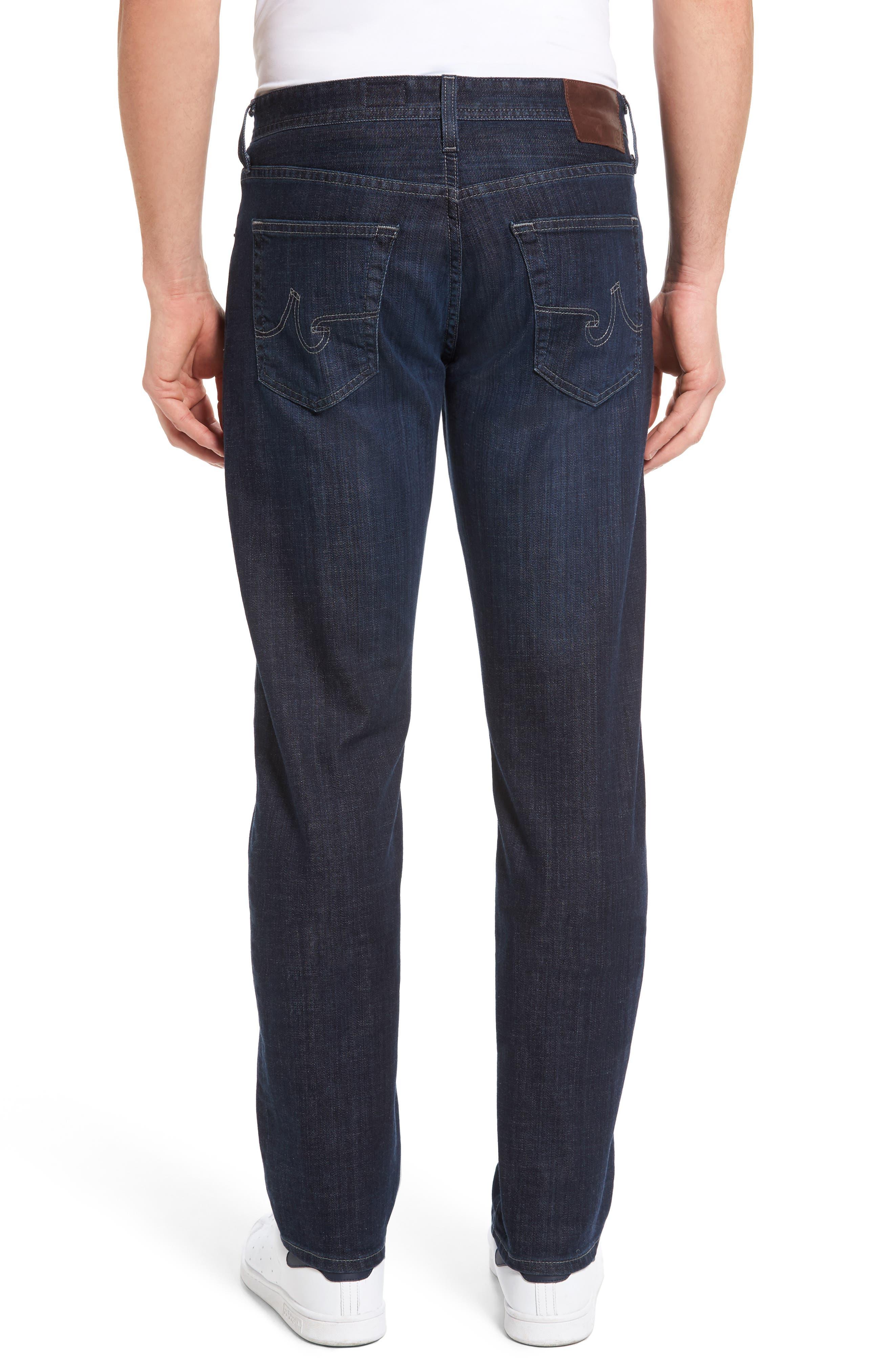 Alternate Image 2  - AG Graduate Slim Straight Leg Jeans (Balcony) (Regular & Tall)