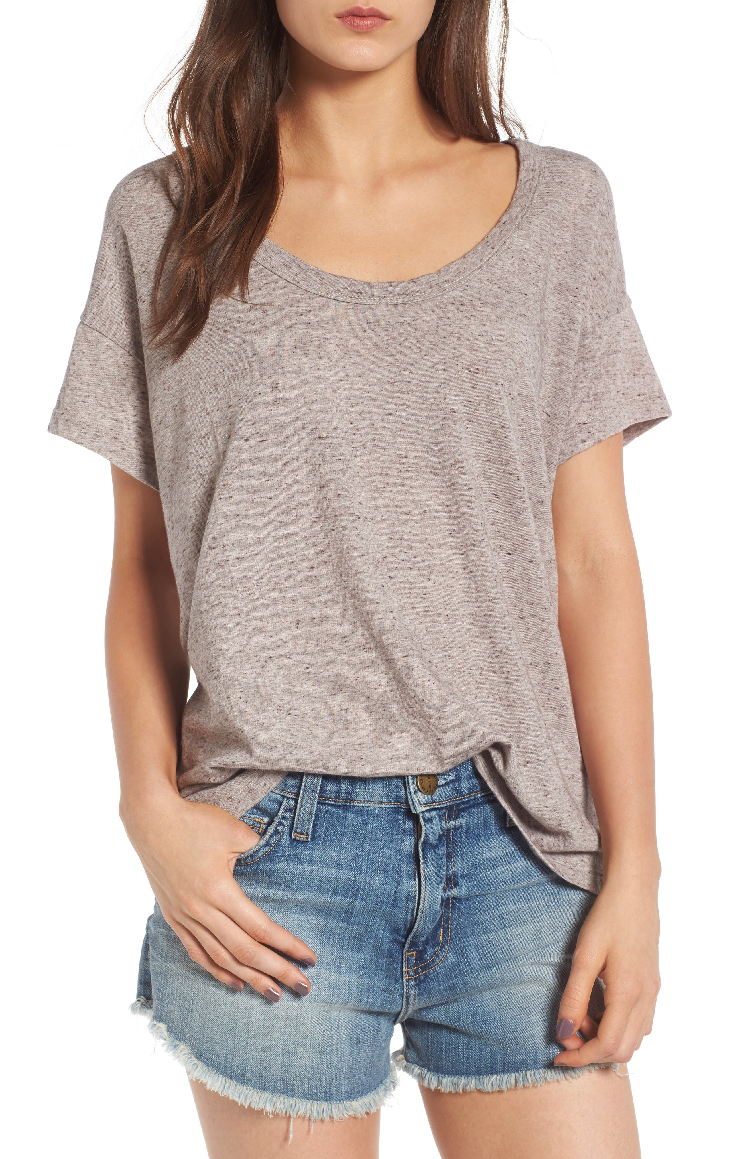 Alternate Image 1 Selected - Current/Elliott The Slouchy Scoop Tee