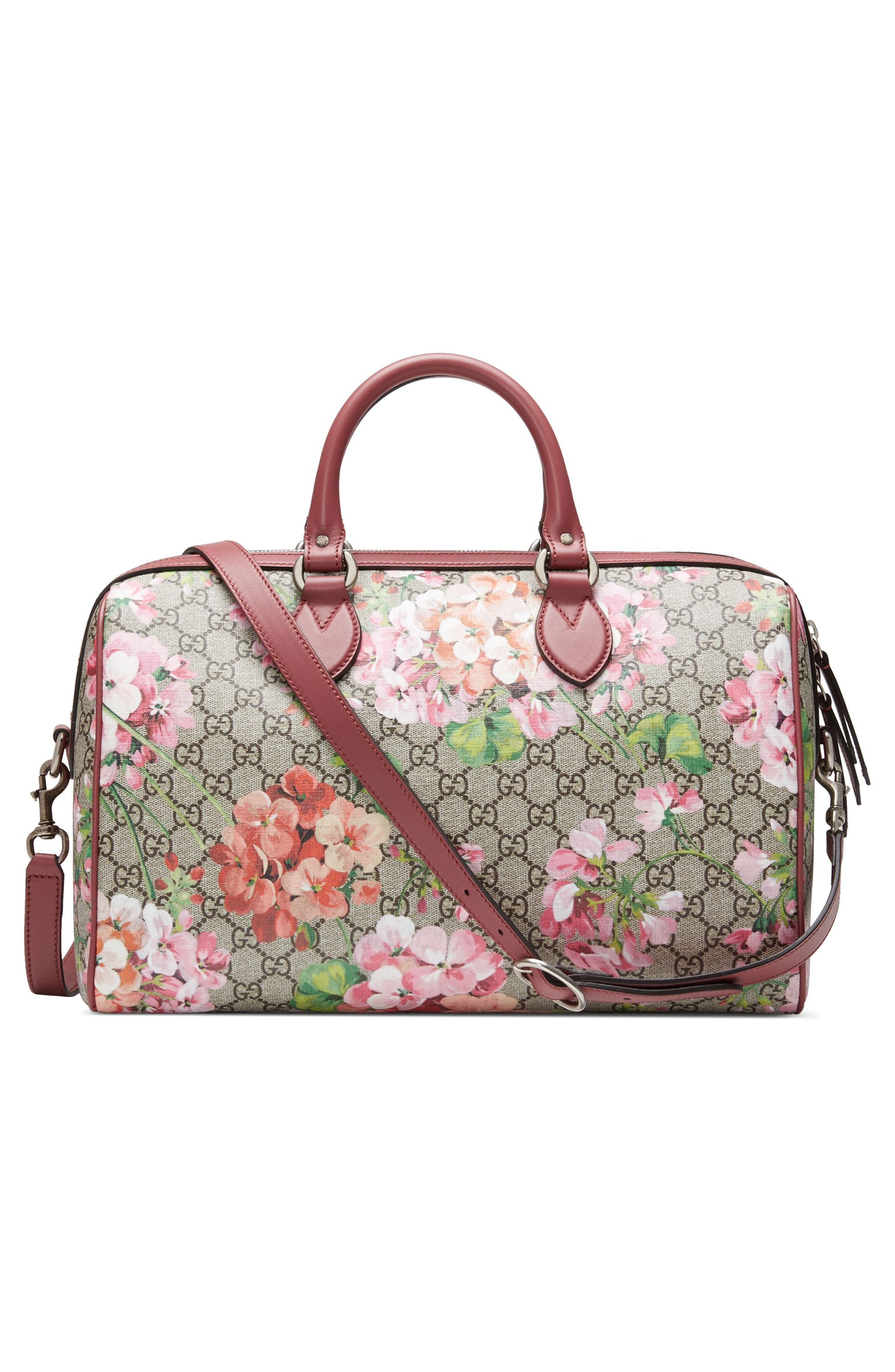 Alternate Image 2  - Gucci Medium Blooms GG Supreme Top Handle Canvas Bag