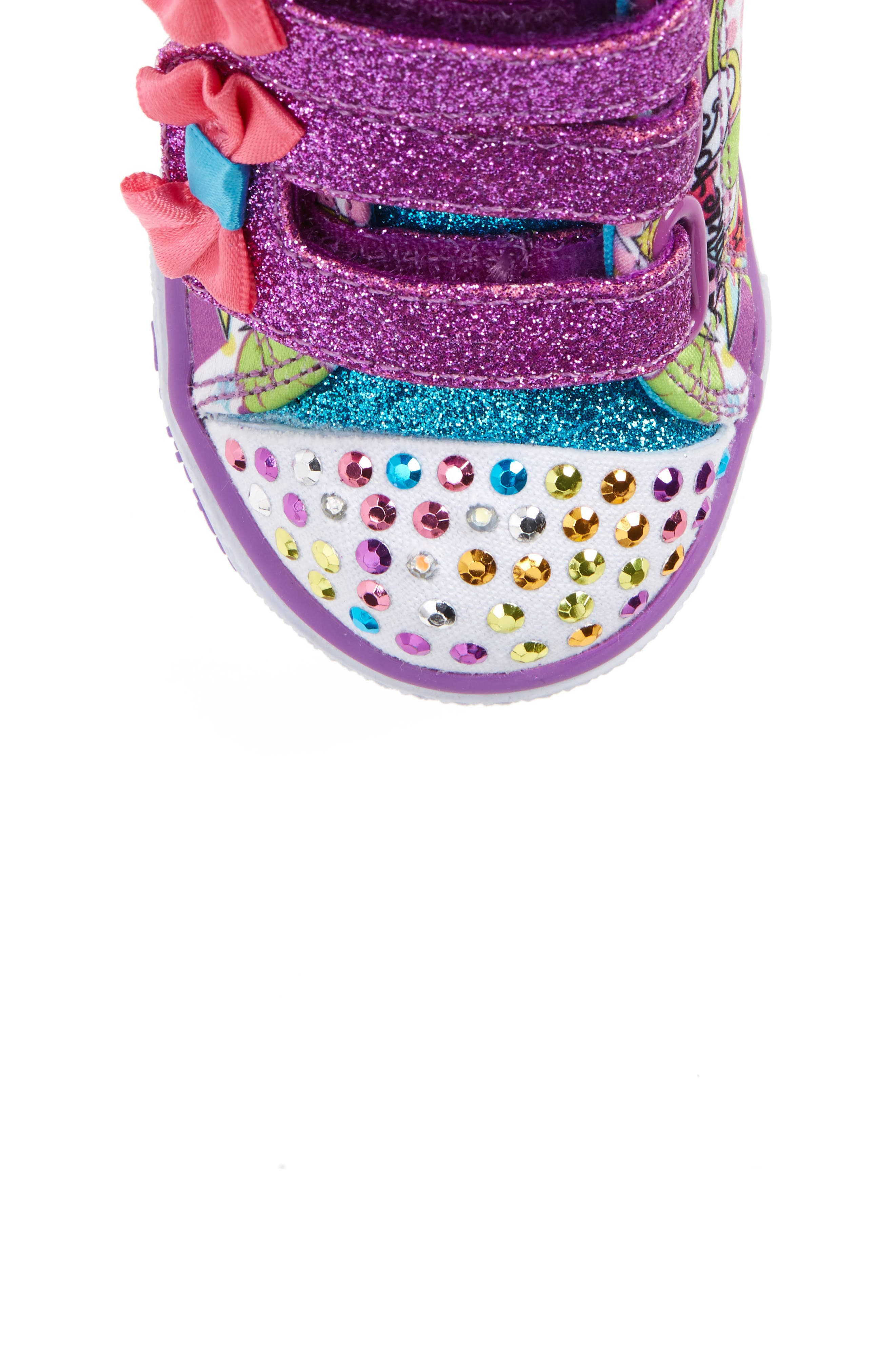 Alternate Image 5  - SKECHERS Twinkle Toes Shuffles Light-Up Sneaker (Walker & Toddler)