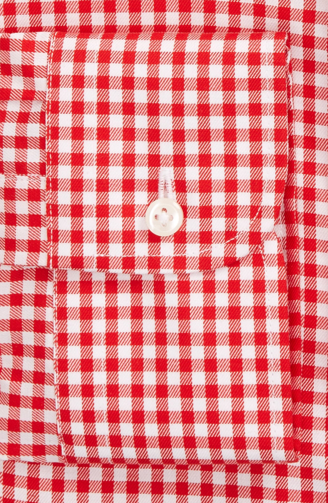 Alternate Image 4  - Nordstrom Men's Shop Classic Fit Non-Iron Gingham Dress Shirt (Online Only)