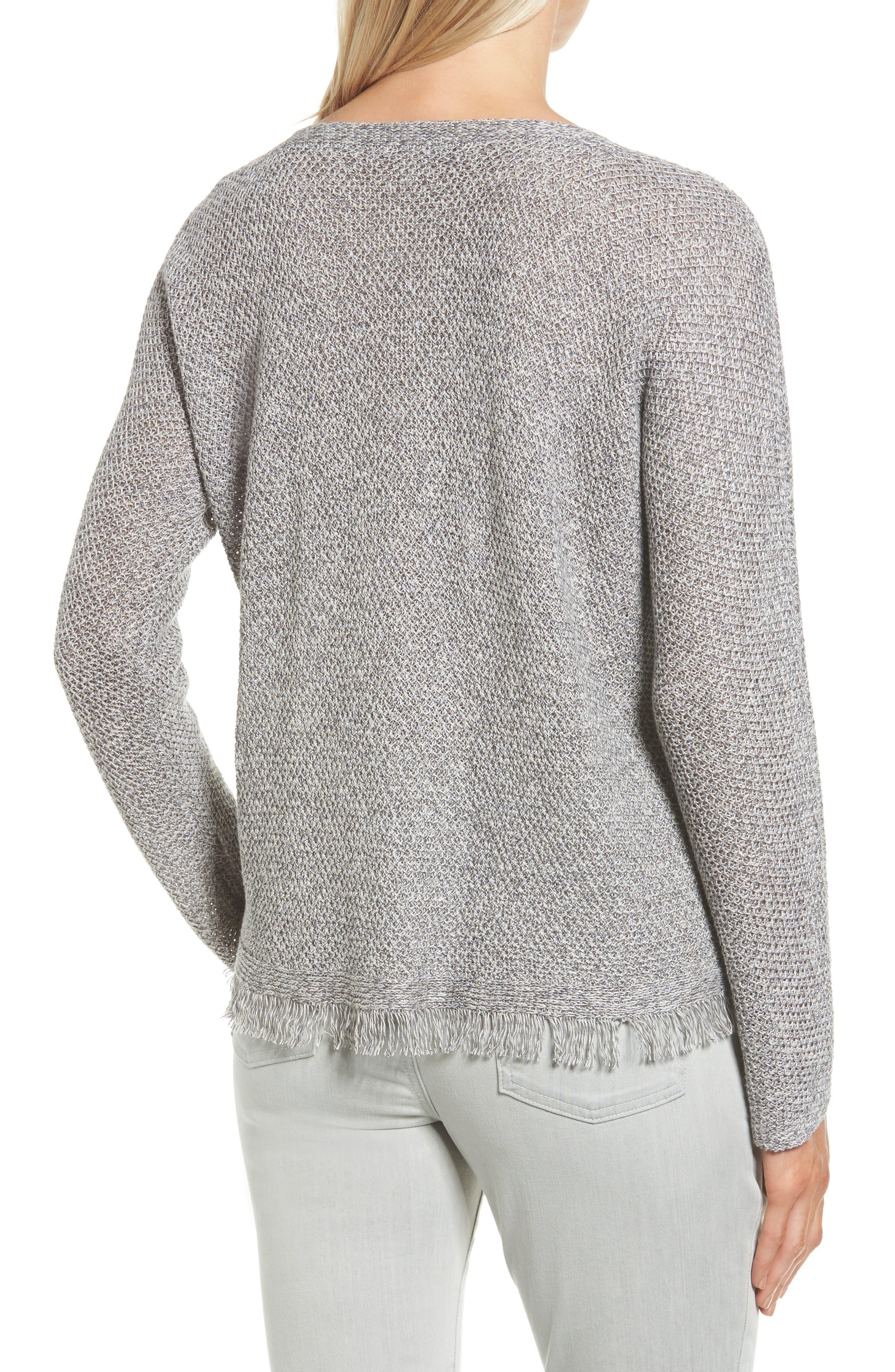 Alternate Image 2  - Eileen Fisher Organic Linen Pullover (Regular & Petite)