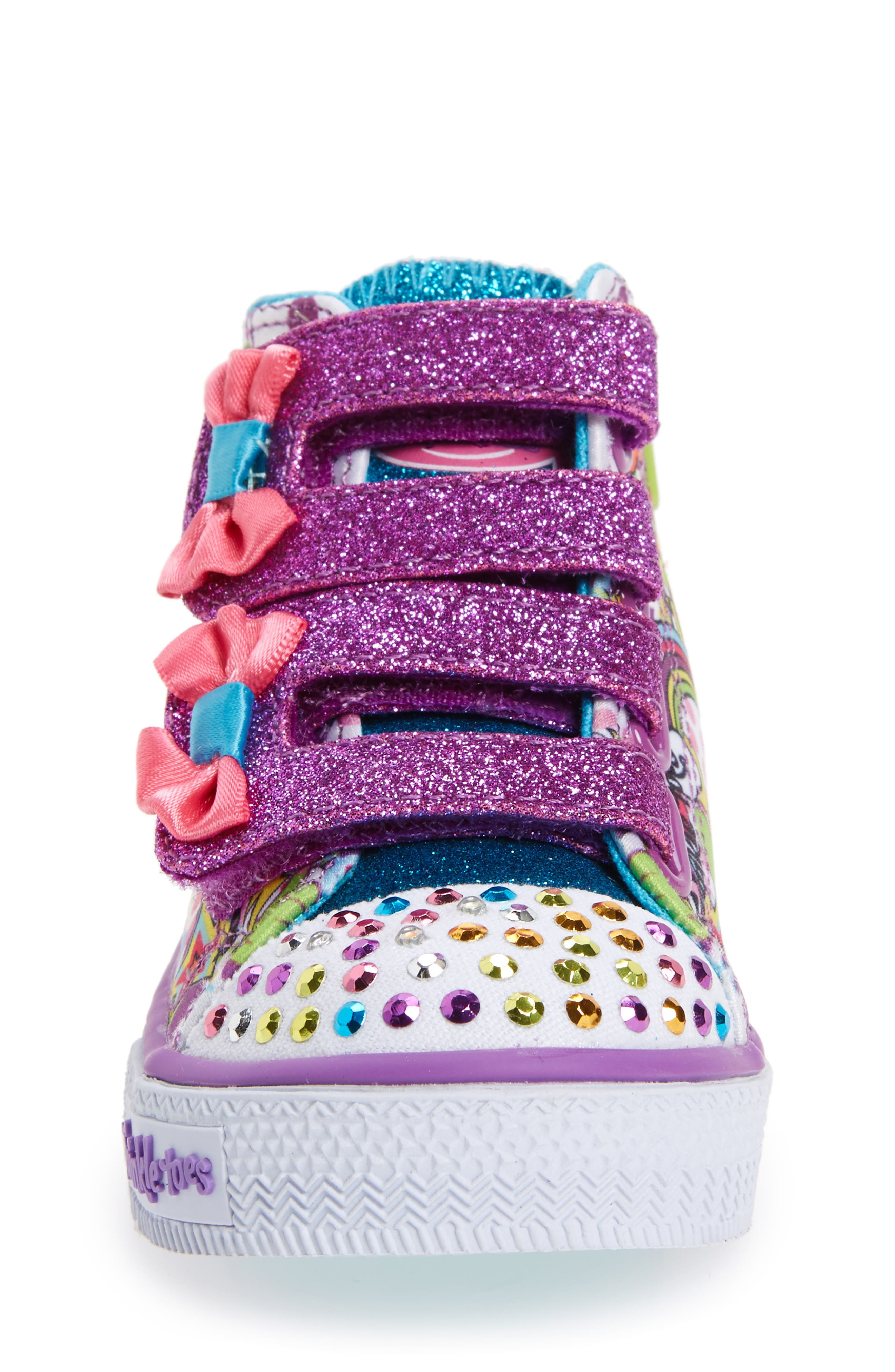 Alternate Image 4  - SKECHERS Twinkle Toes Shuffles Light-Up Sneaker (Walker & Toddler)
