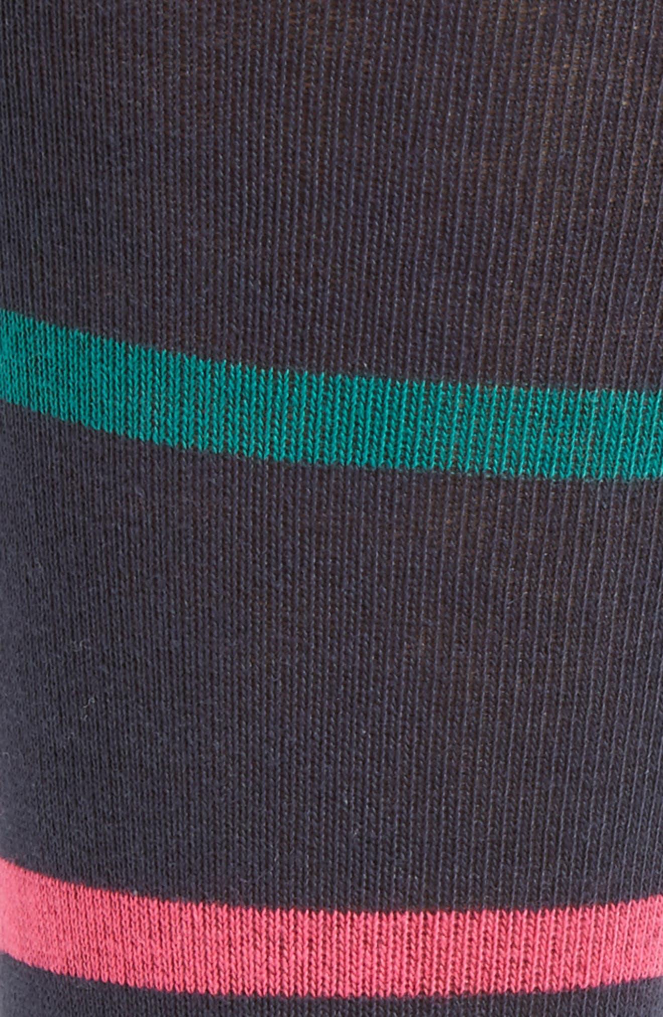 Stripe Crew Socks,                             Alternate thumbnail 2, color,                             Navy