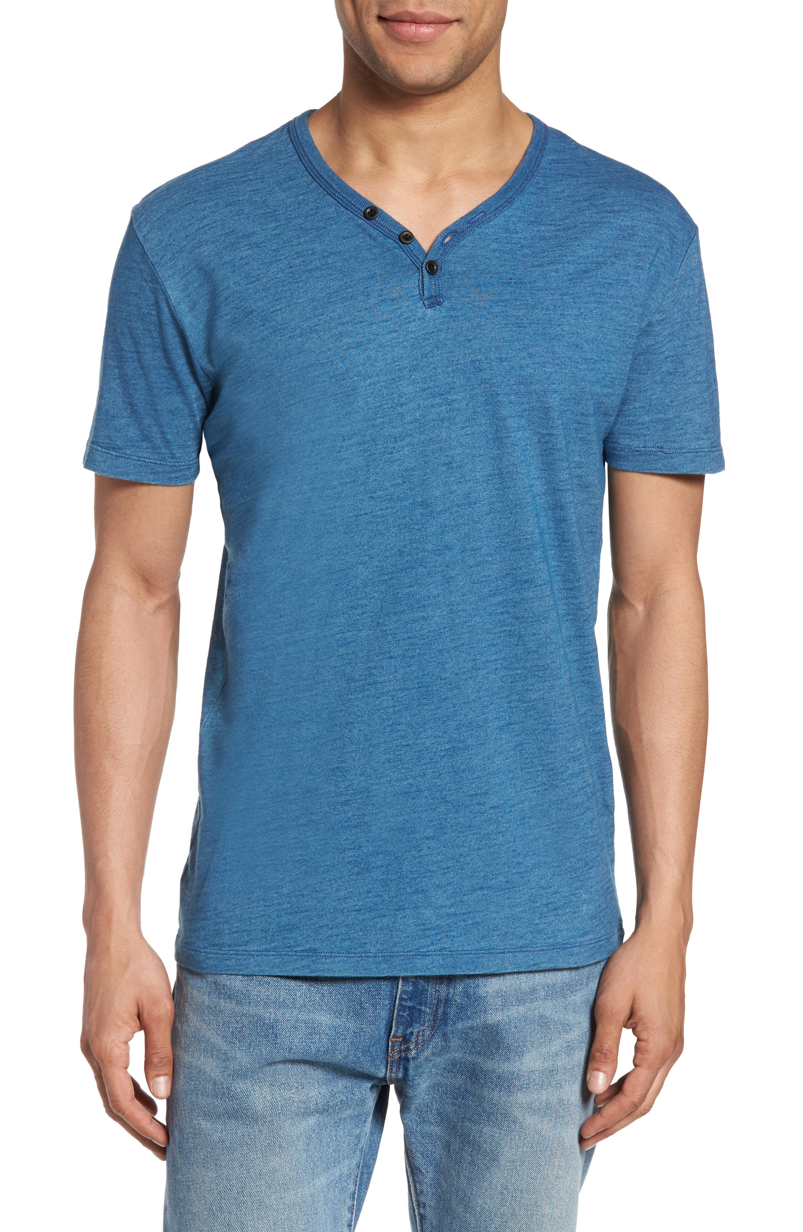 Lucky Brand Y-Neck Henley T-Shirt