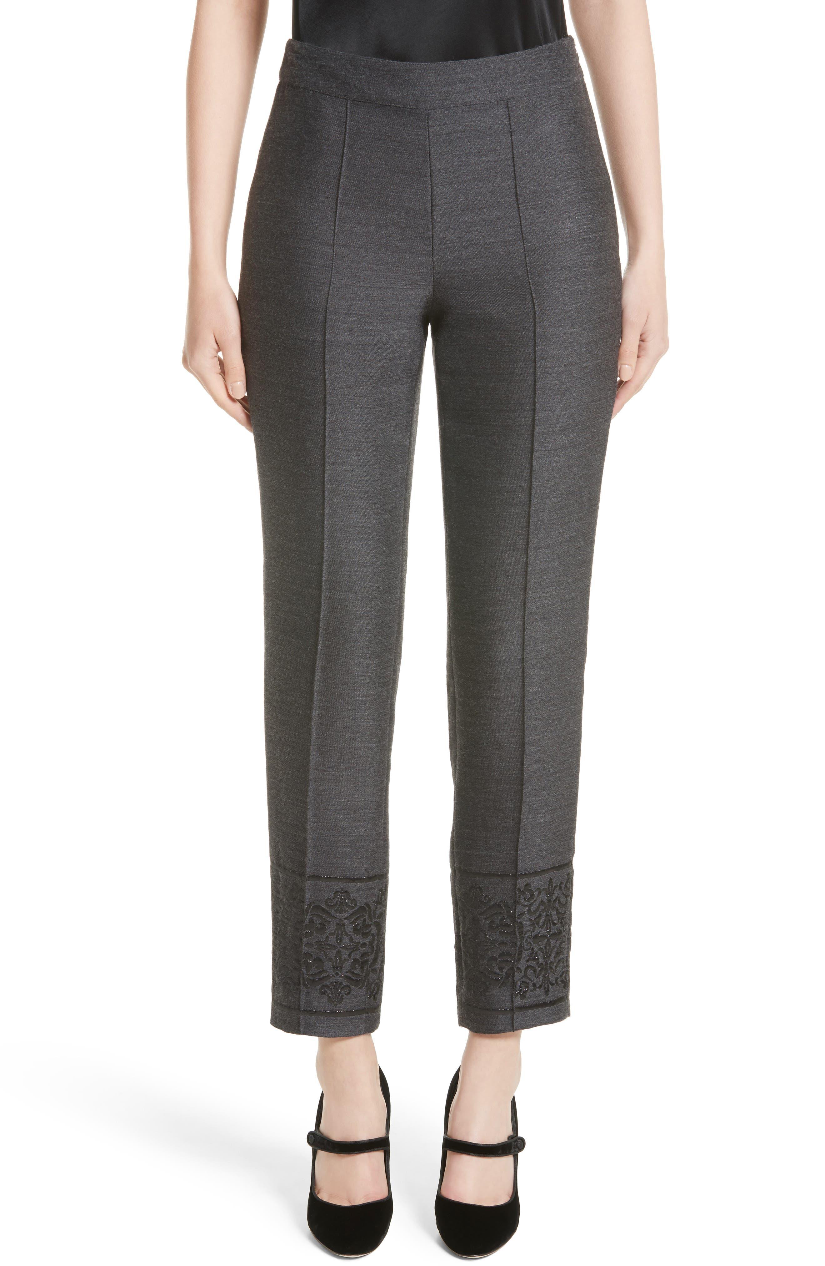 St. John Collection Shavari Jacquard Crop Pants