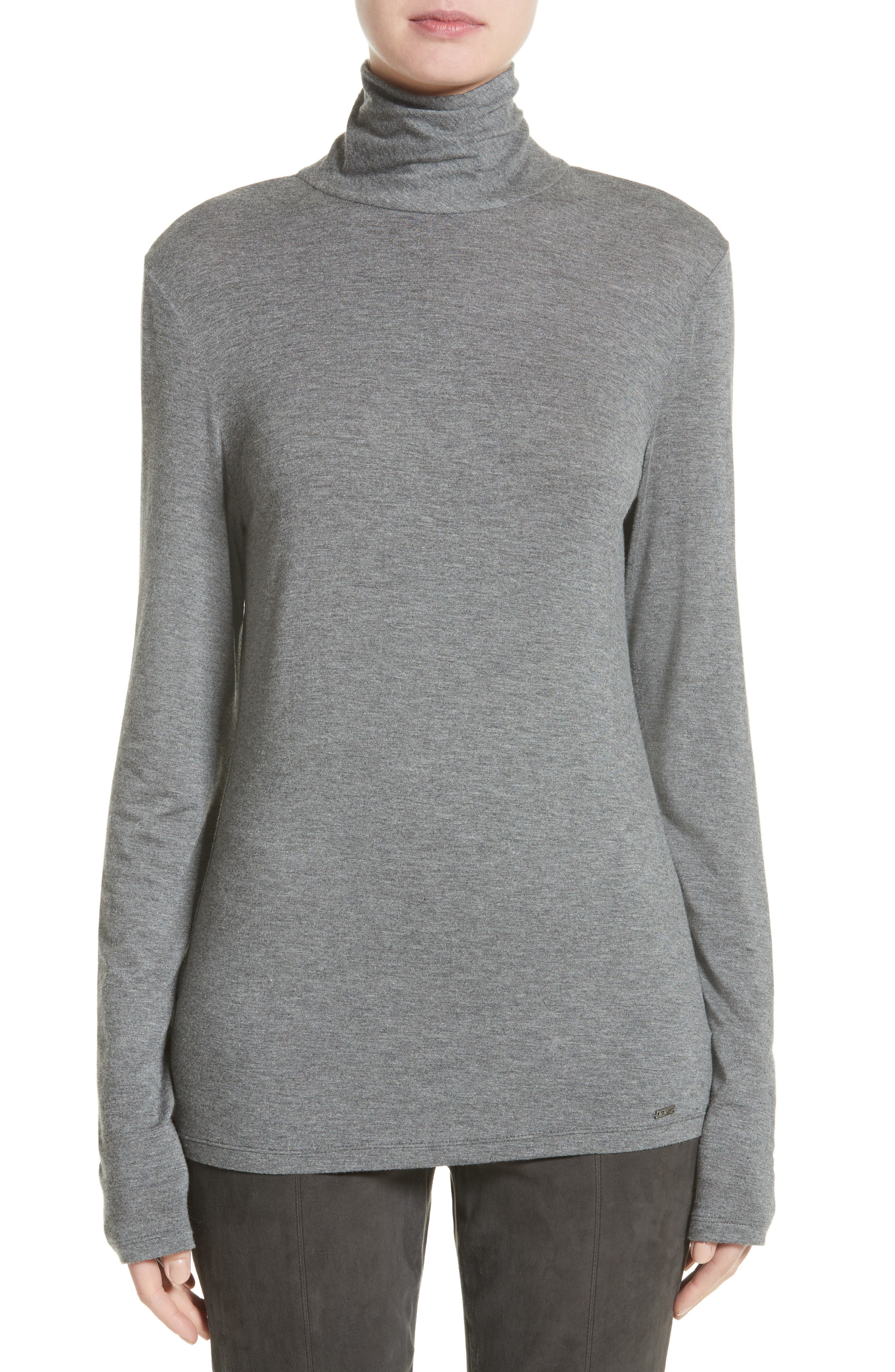 Alternate Image 1 Selected - St. John Collection Stretch Jersey Top