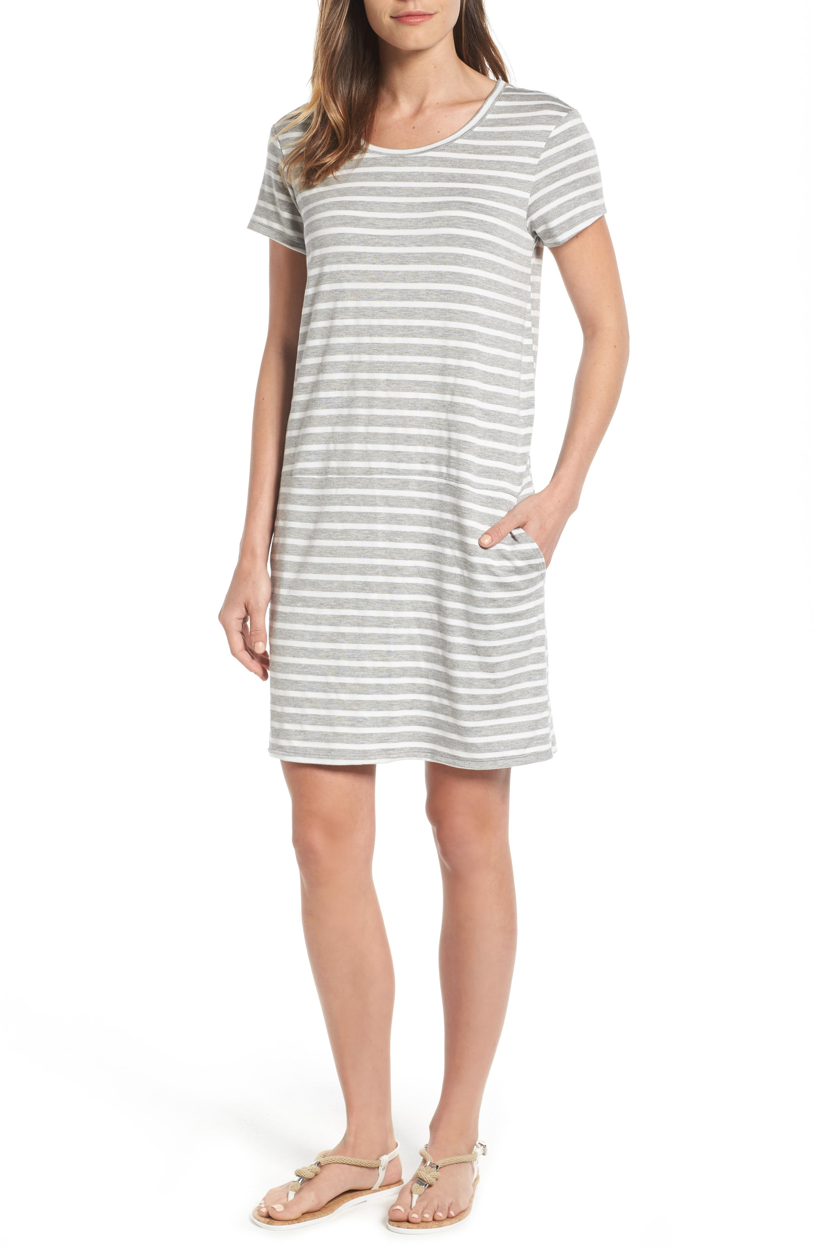 Caslon® Knit Shift Dress (Regular & Petite)