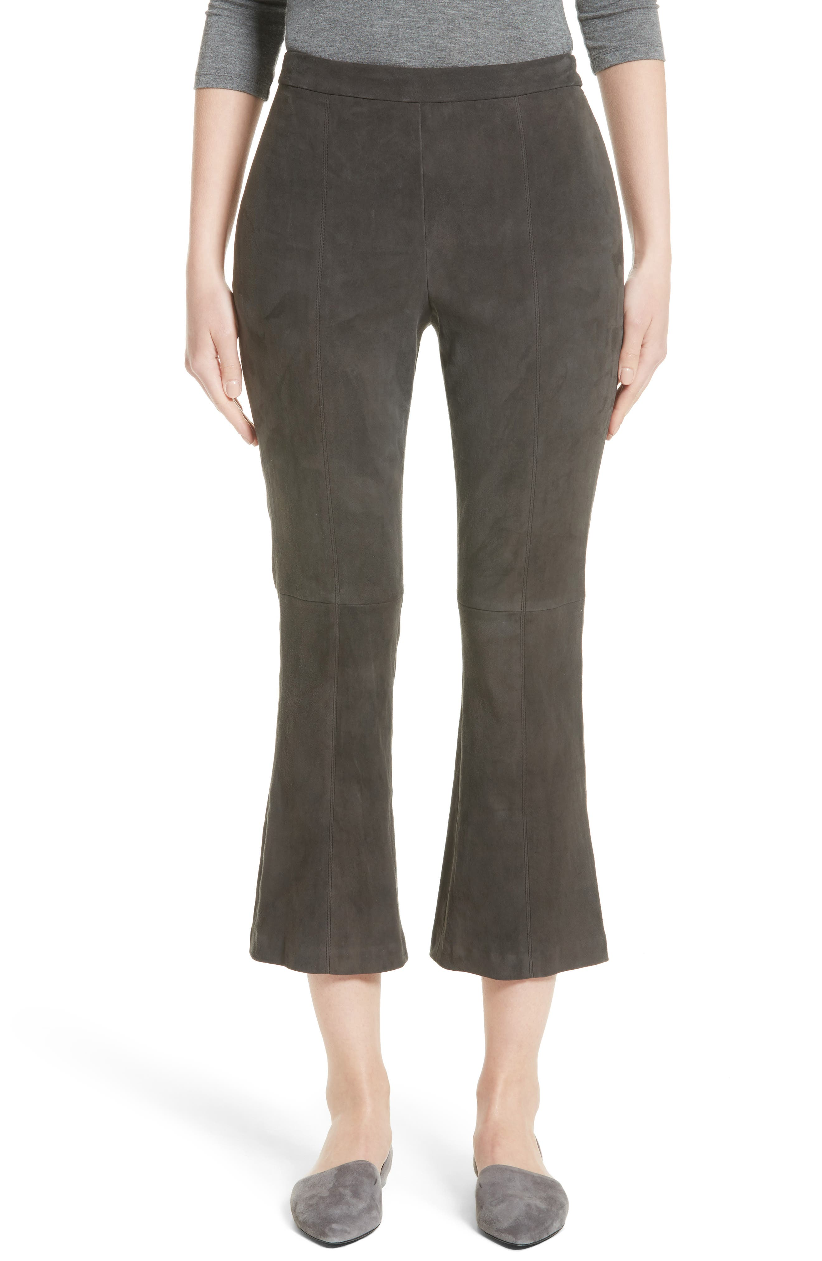 Alternate Image 1 Selected - St. John Collection Stretch Suede Capri Pants