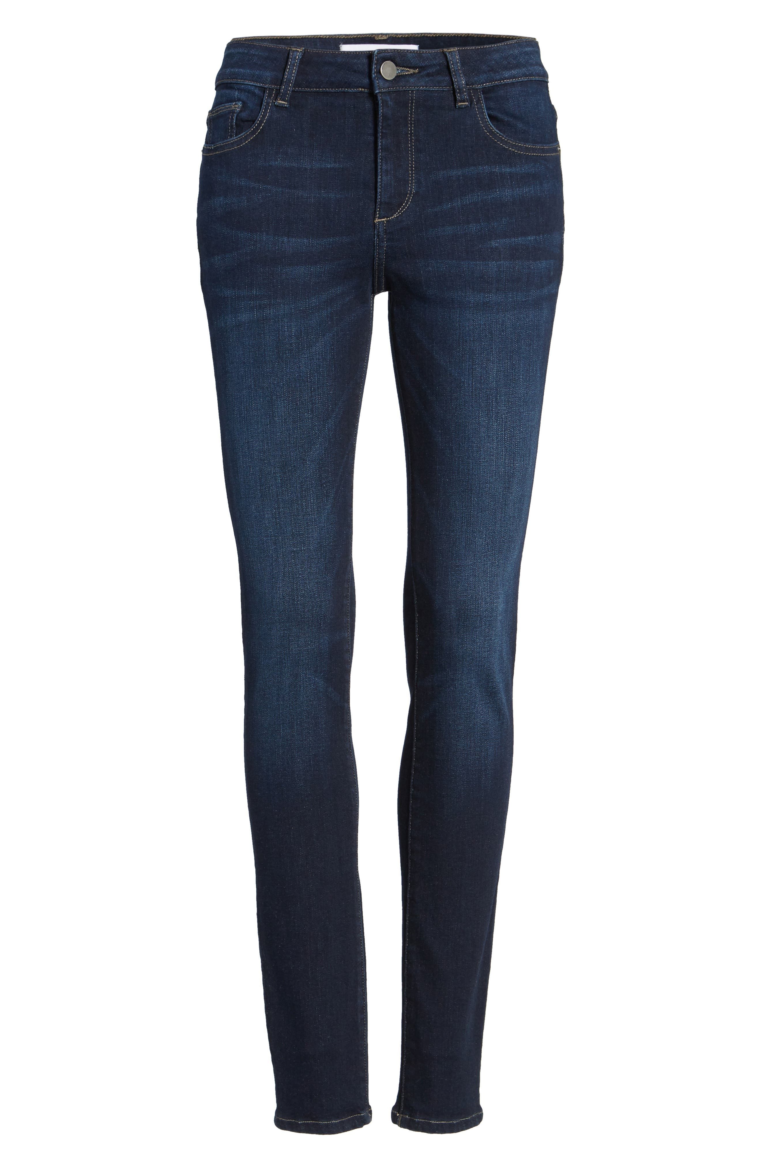 Florence Instasculpt Skinny Jeans,                             Alternate thumbnail 7, color,                             Crux
