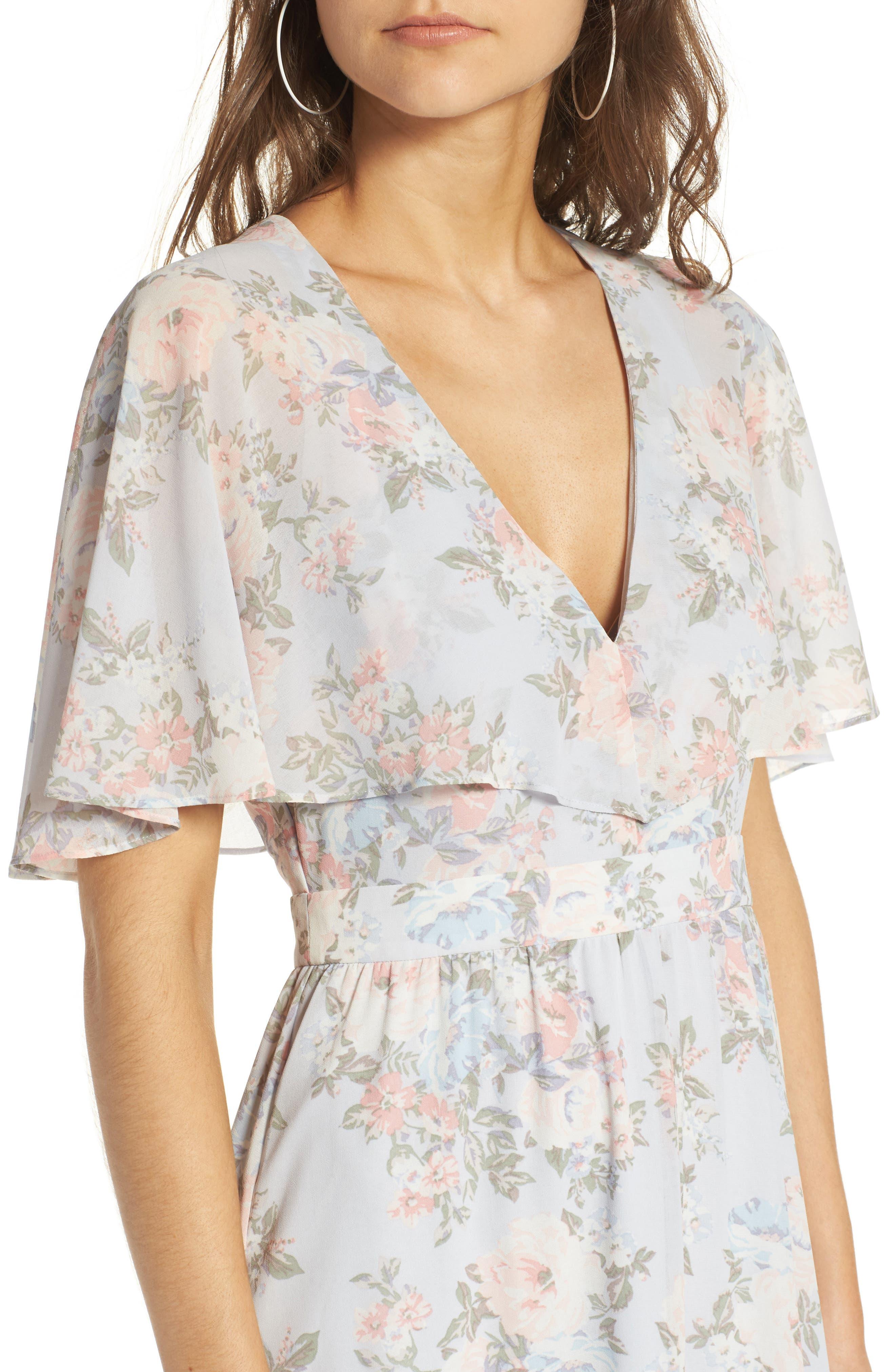Alternate Image 4  - WAYF Love Note Flutter Sleeve Maxi Dress
