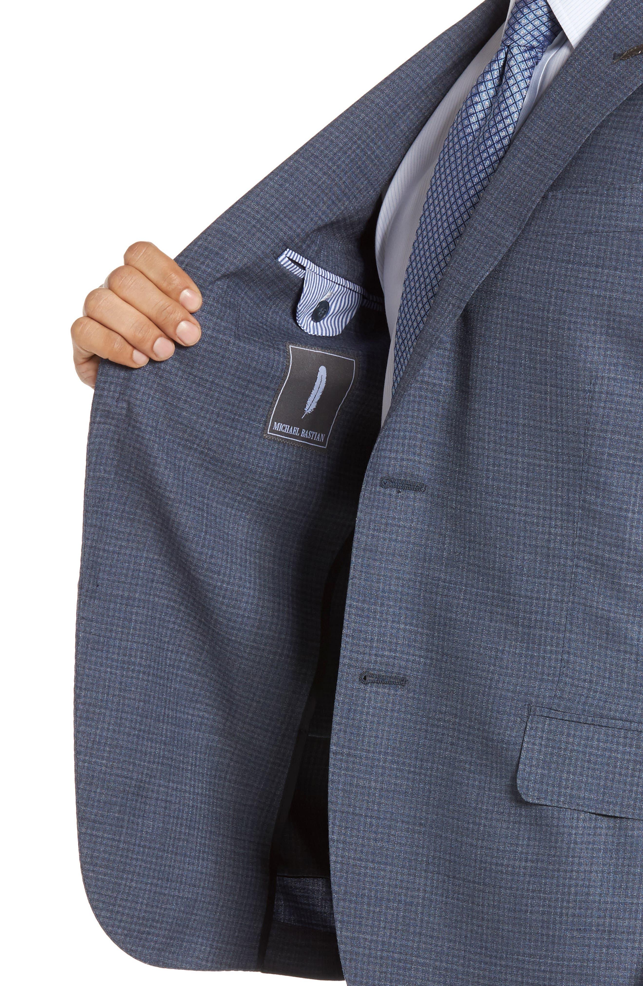 Alternate Image 6  - Michael Bastian Classic Fit Check Wool Suit