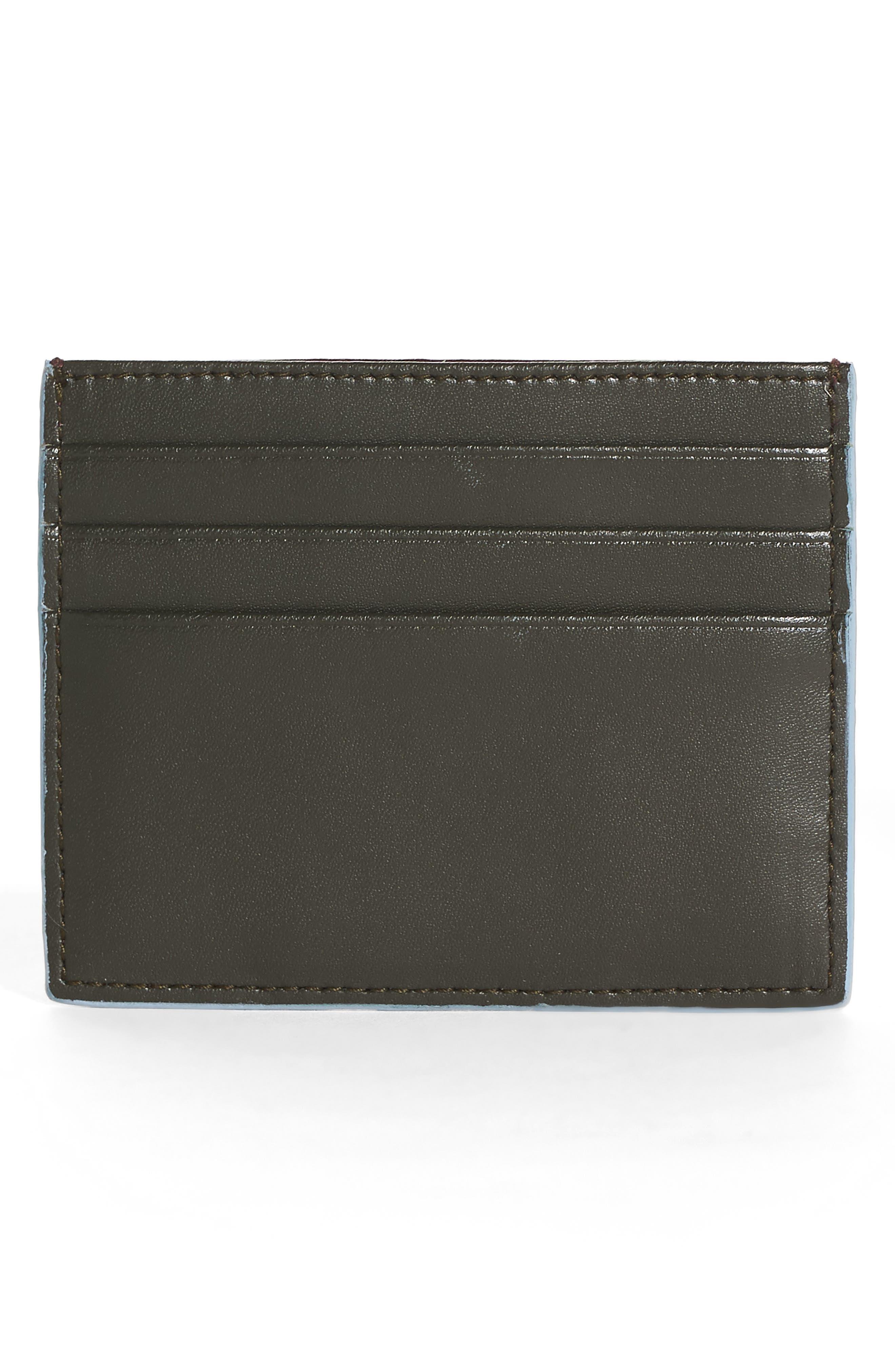 Alternate Image 2  - Fendi Rainbow Stud Leather Card Case
