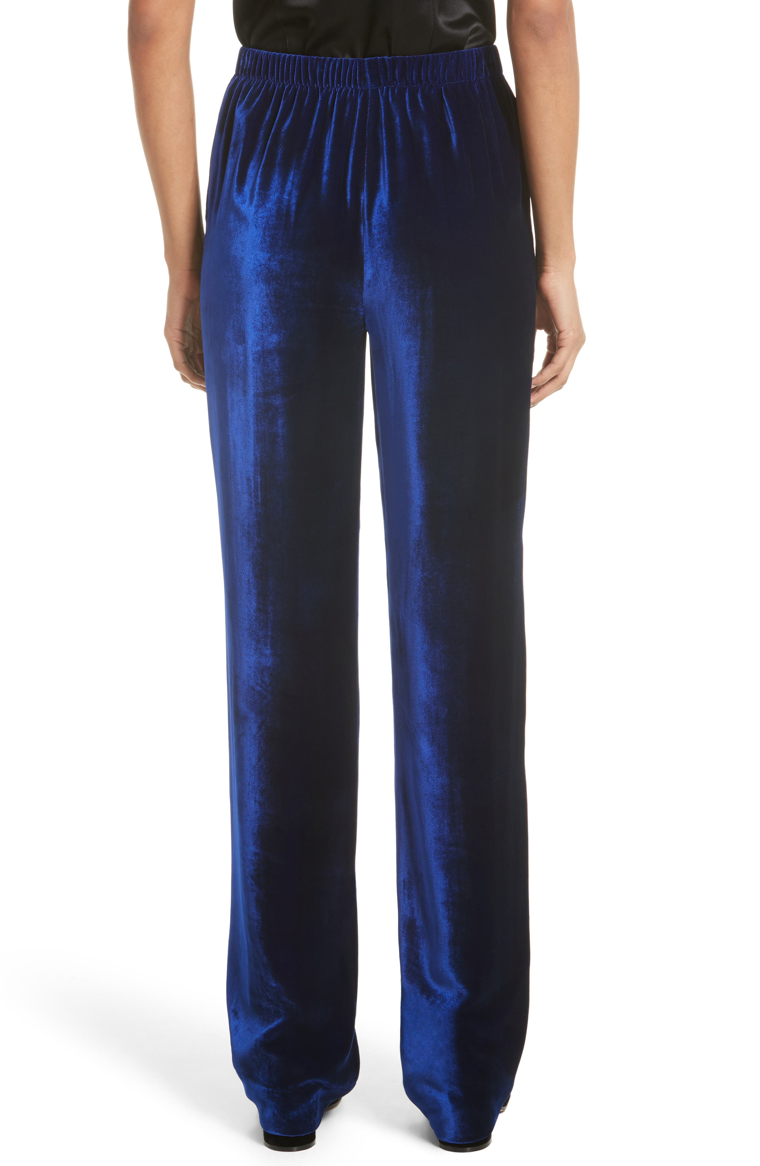 Alternate Image 2  - St. John Collection Velvet Wide Leg Pants