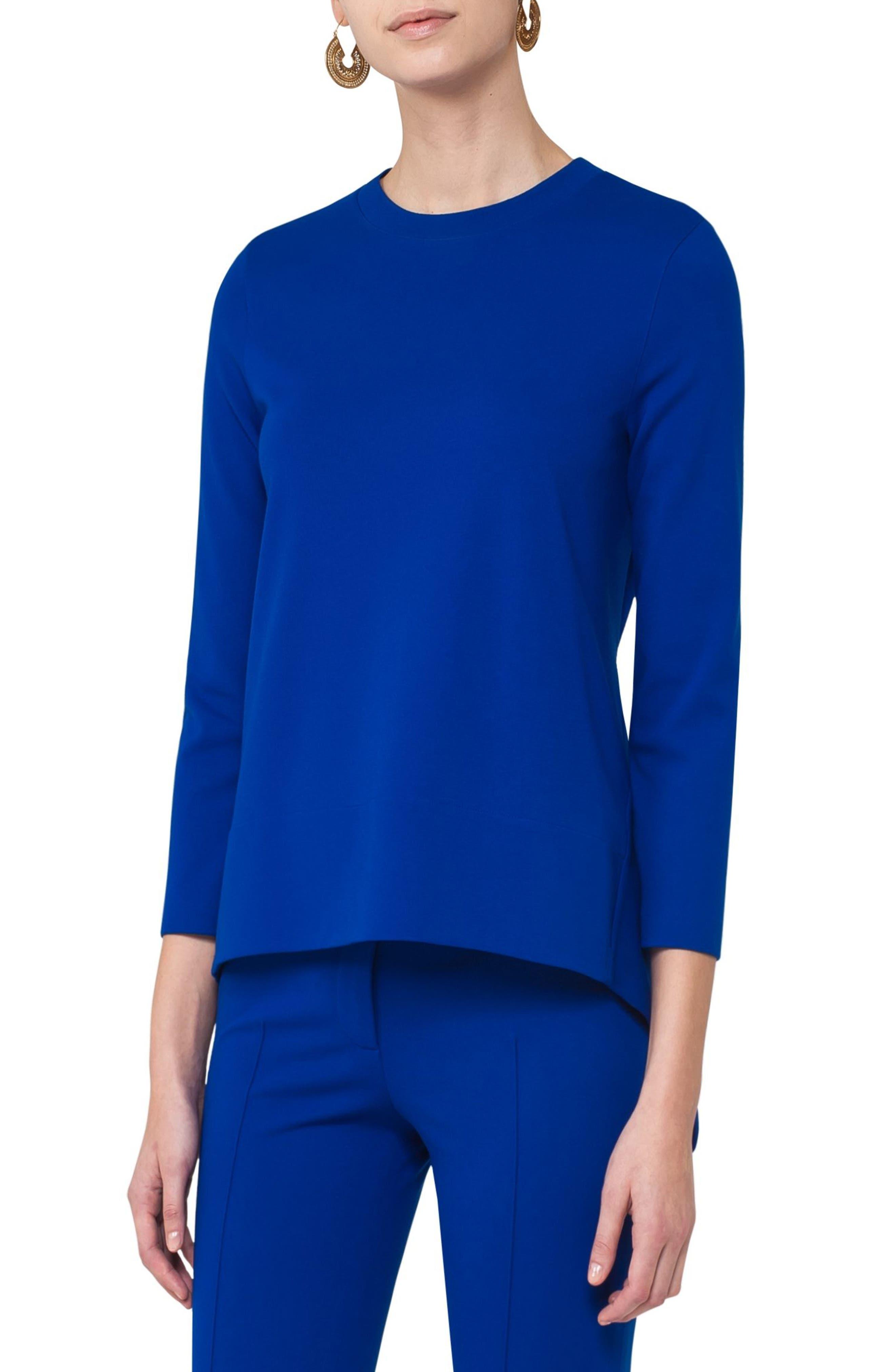 Handkerchief Jersey Shirt,                         Main,                         color, Blue