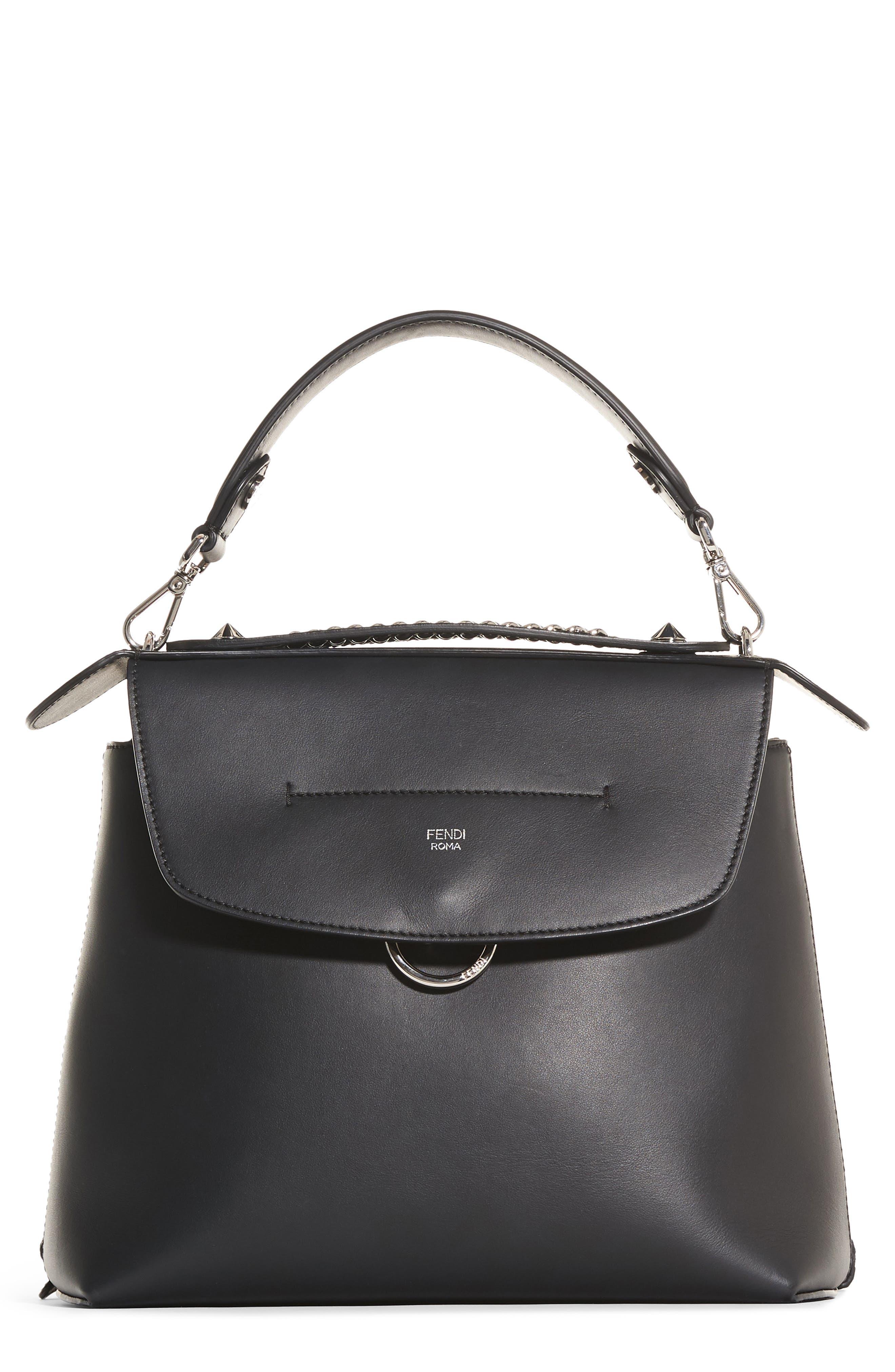 Mini Back to School Leather Backpack,                             Main thumbnail 1, color,                             Black Palladium