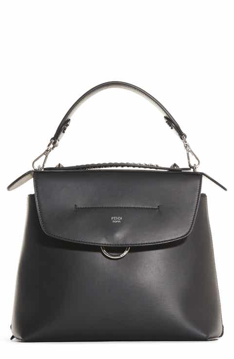 Fendi Signature Brown Ruched Hobo