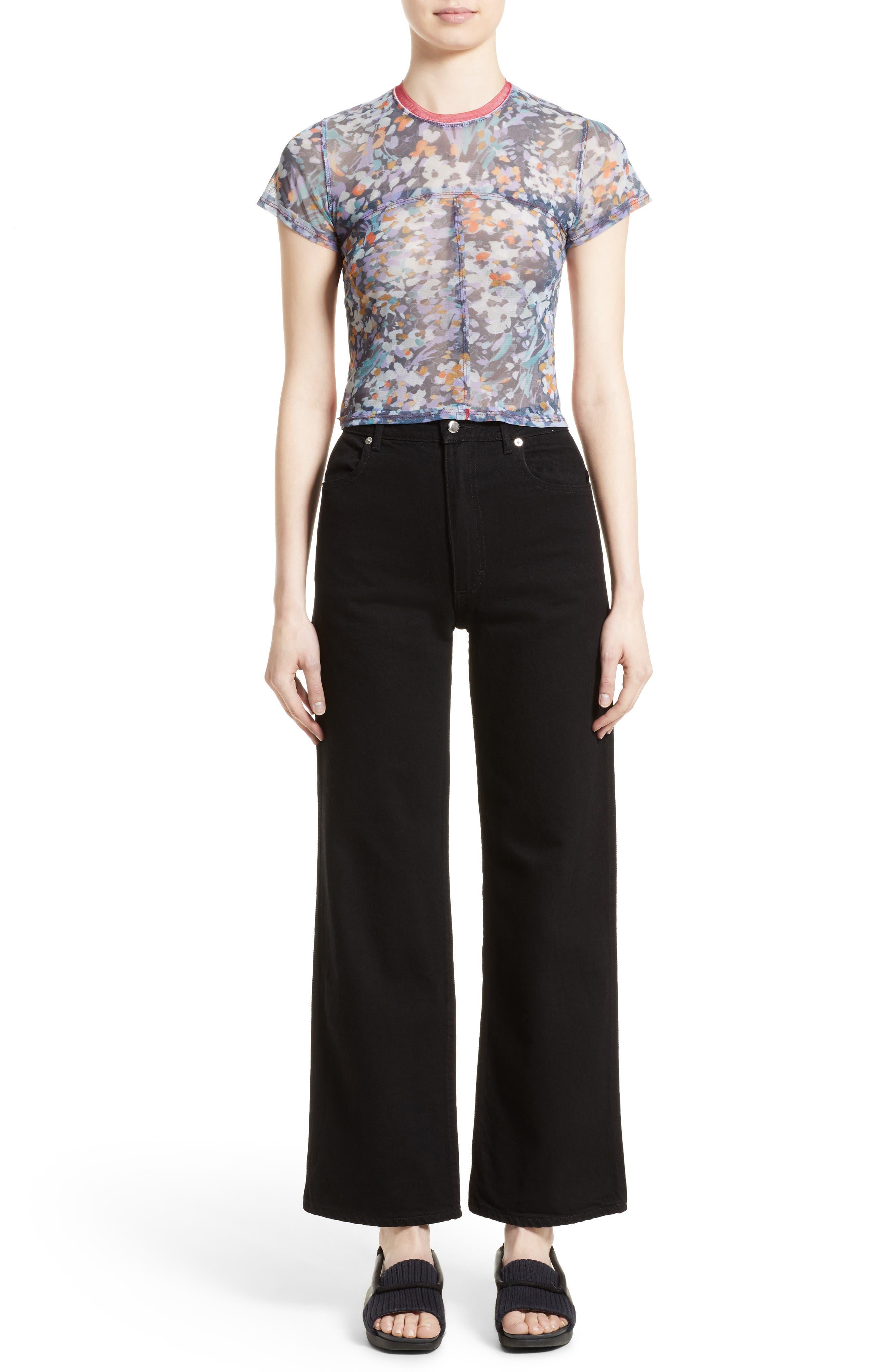 Alternate Image 7  - Eckhaus Latta EL Wide Leg Jeans (Almost Black)