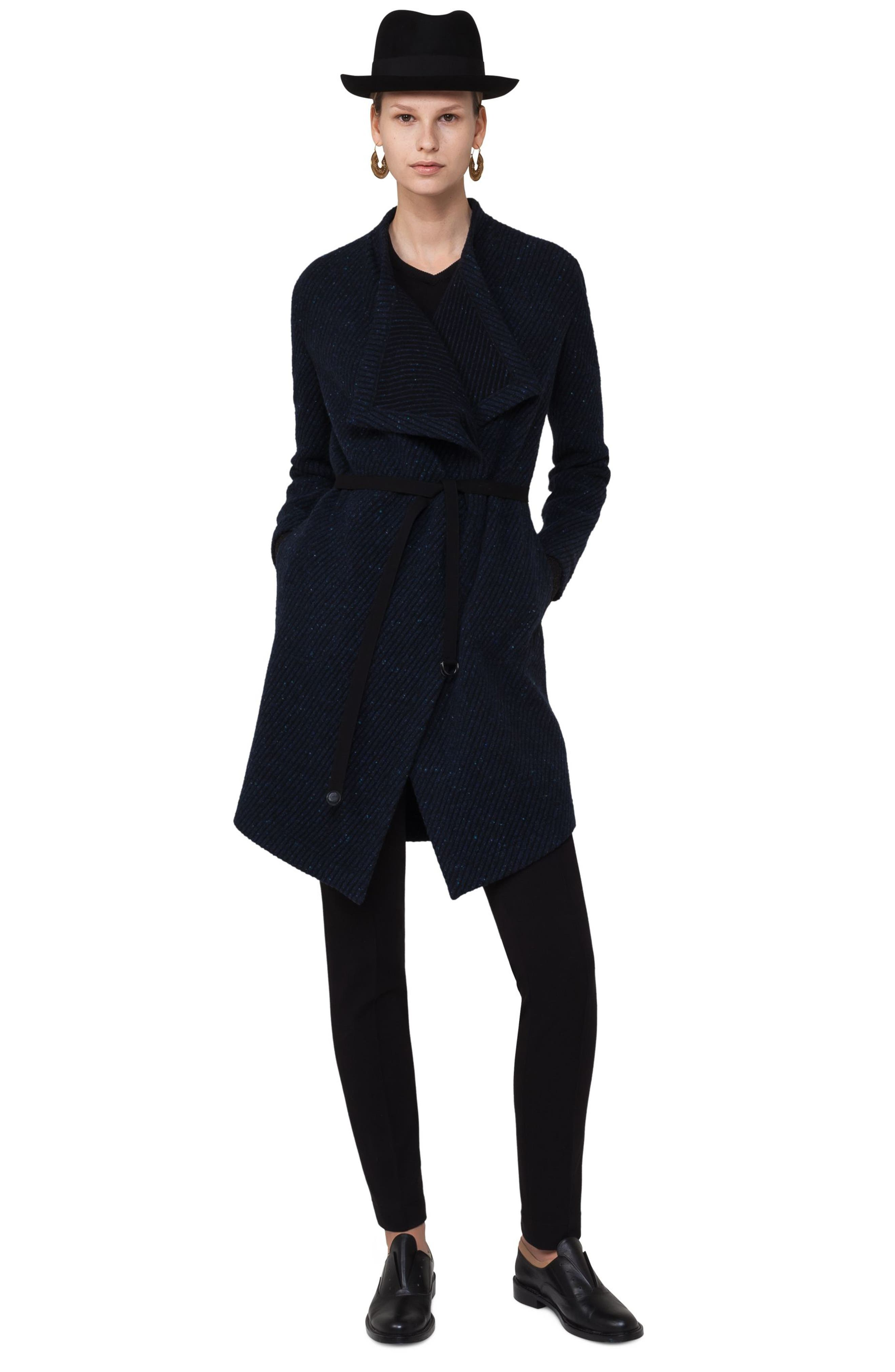 Alternate Image 3  - Akris punto Wool Blend Gabardine Coat