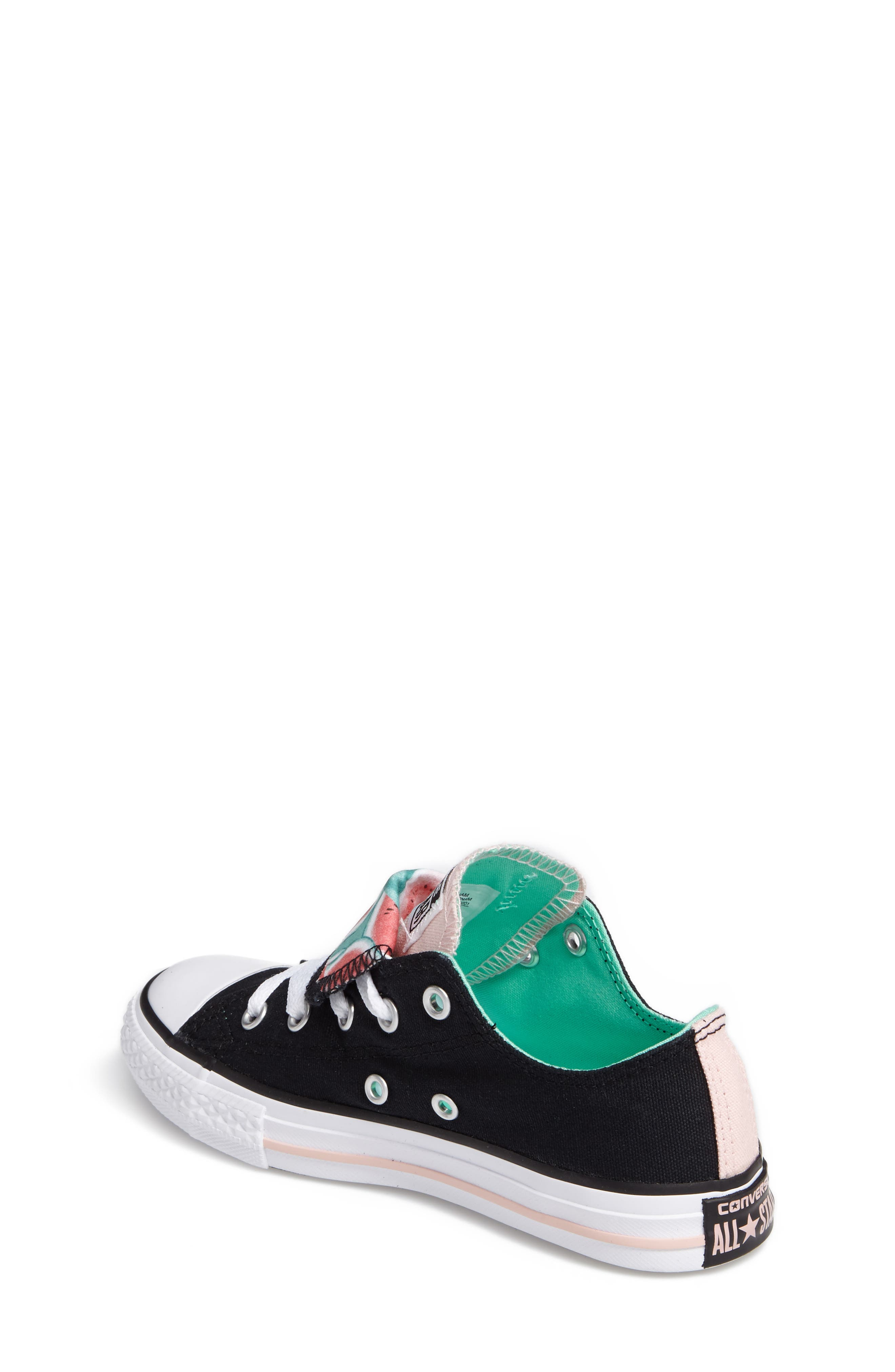 Chuck Taylor<sup>®</sup> All Star<sup>®</sup> Watermelon Print Sneaker,                             Alternate thumbnail 2, color,                             Black