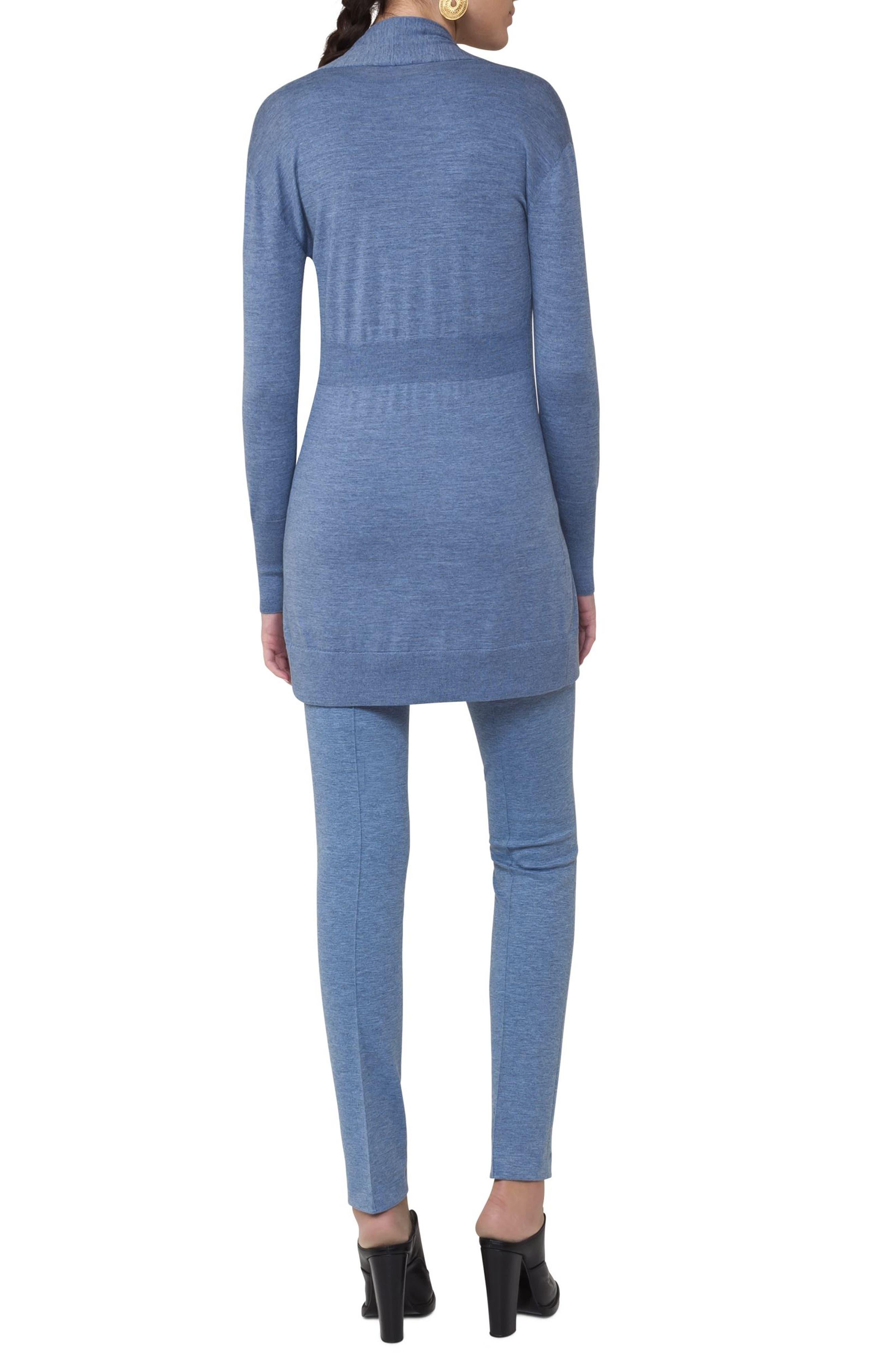 Alternate Image 2  - Akris punto Long Wool Cardigan