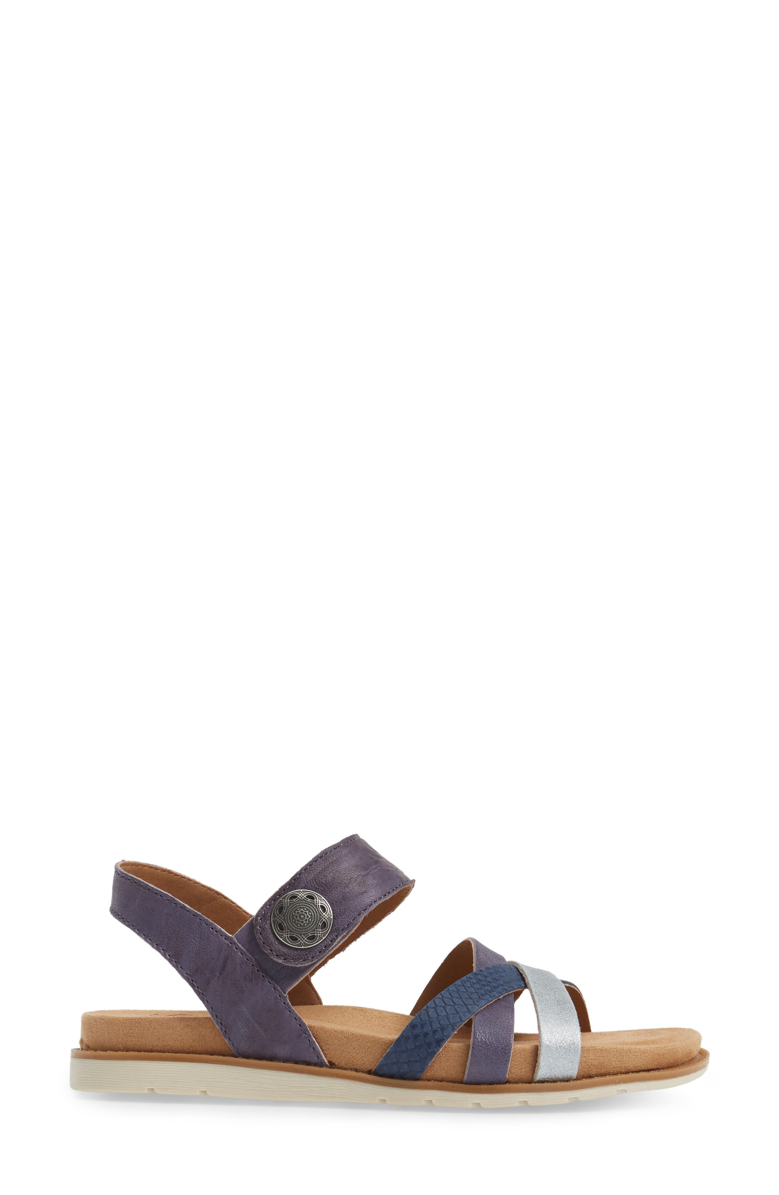 Alonsa Sandal,                             Alternate thumbnail 3, color,                             Denim Leather