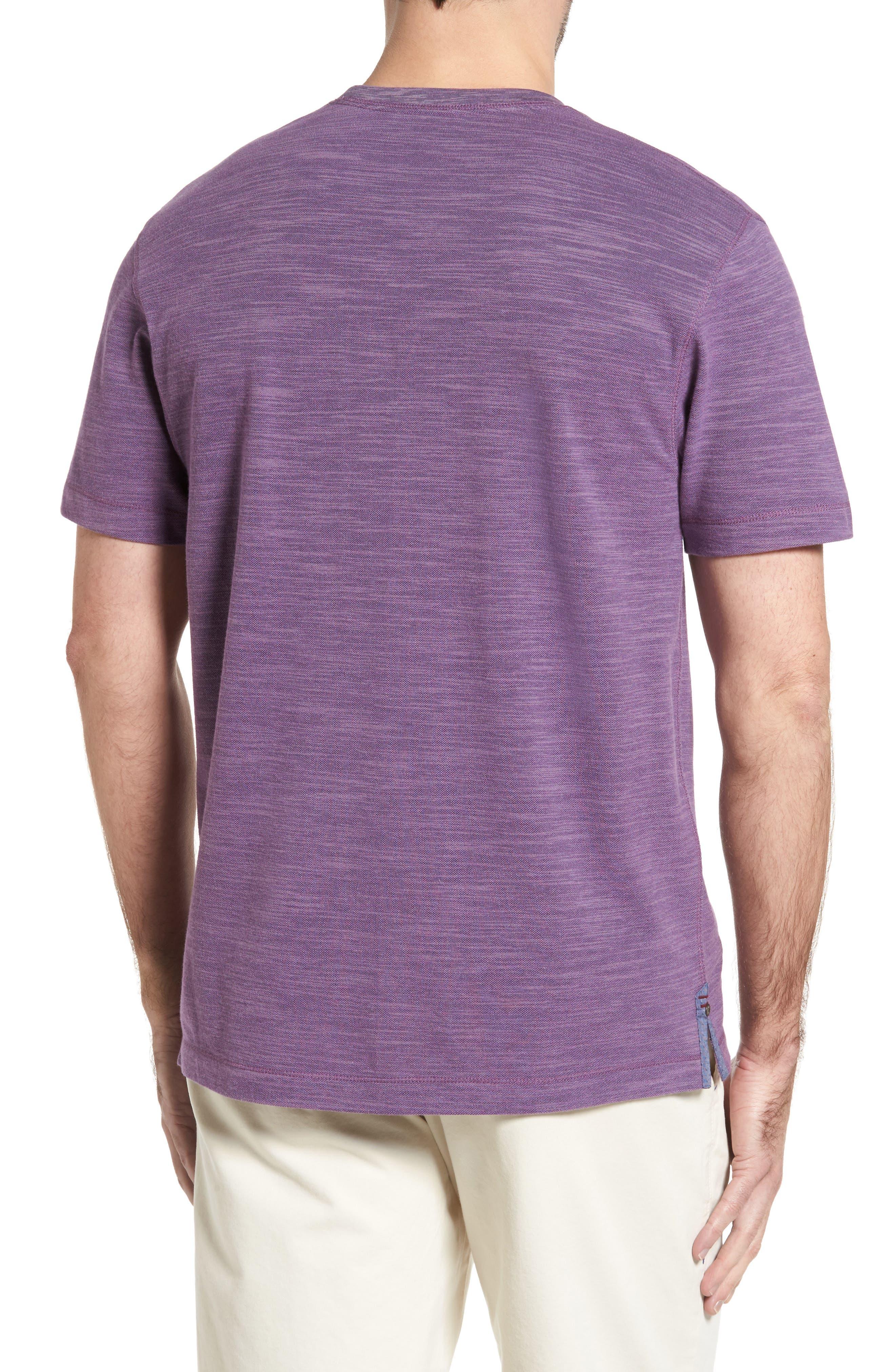 Paxton Space Dye Piqué T-Shirt,                             Alternate thumbnail 2, color,                             Purple