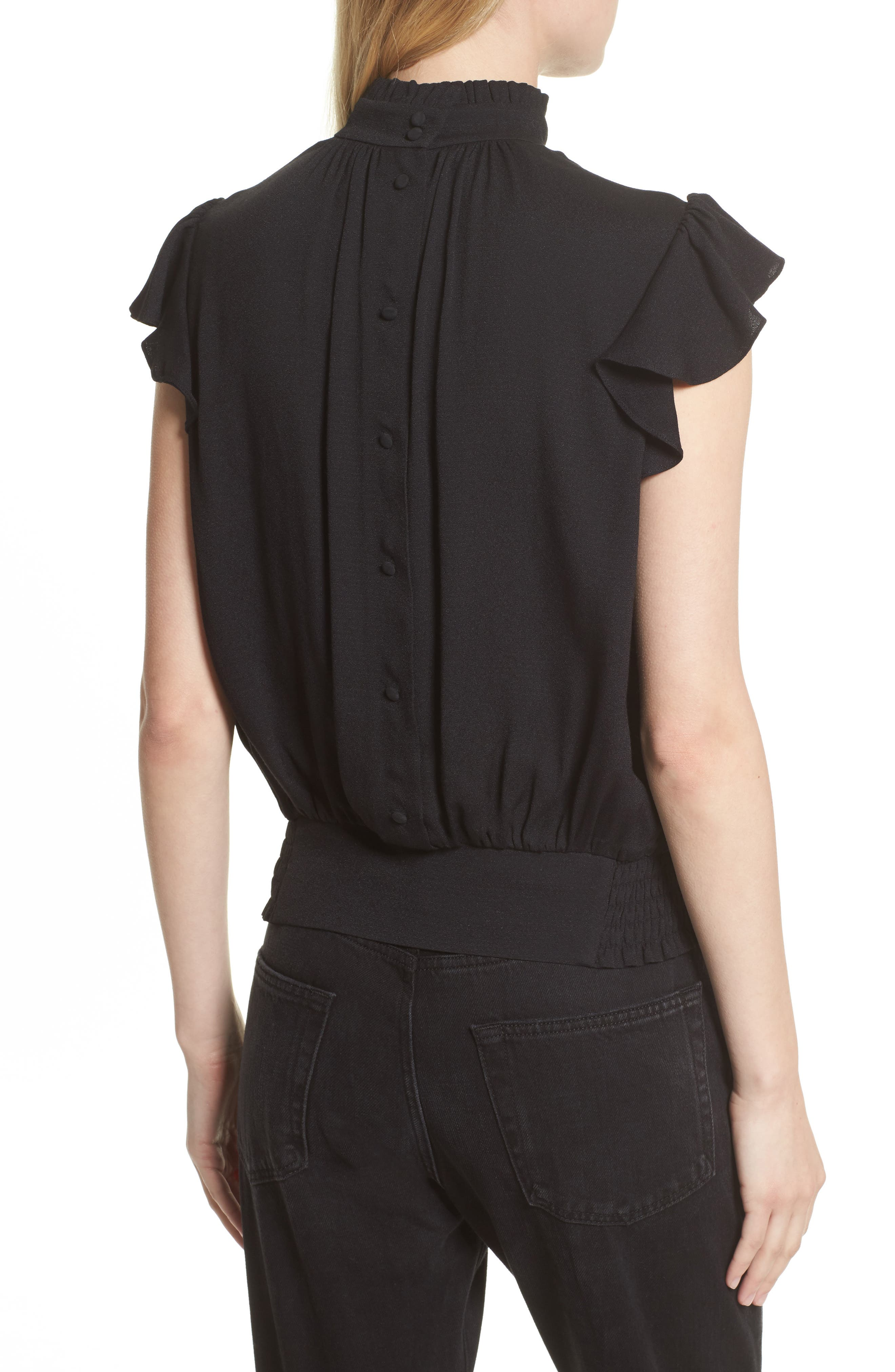Alternate Image 3  - FRAME Smocked Ruffle Blouse (Nordstrom Exclusive)