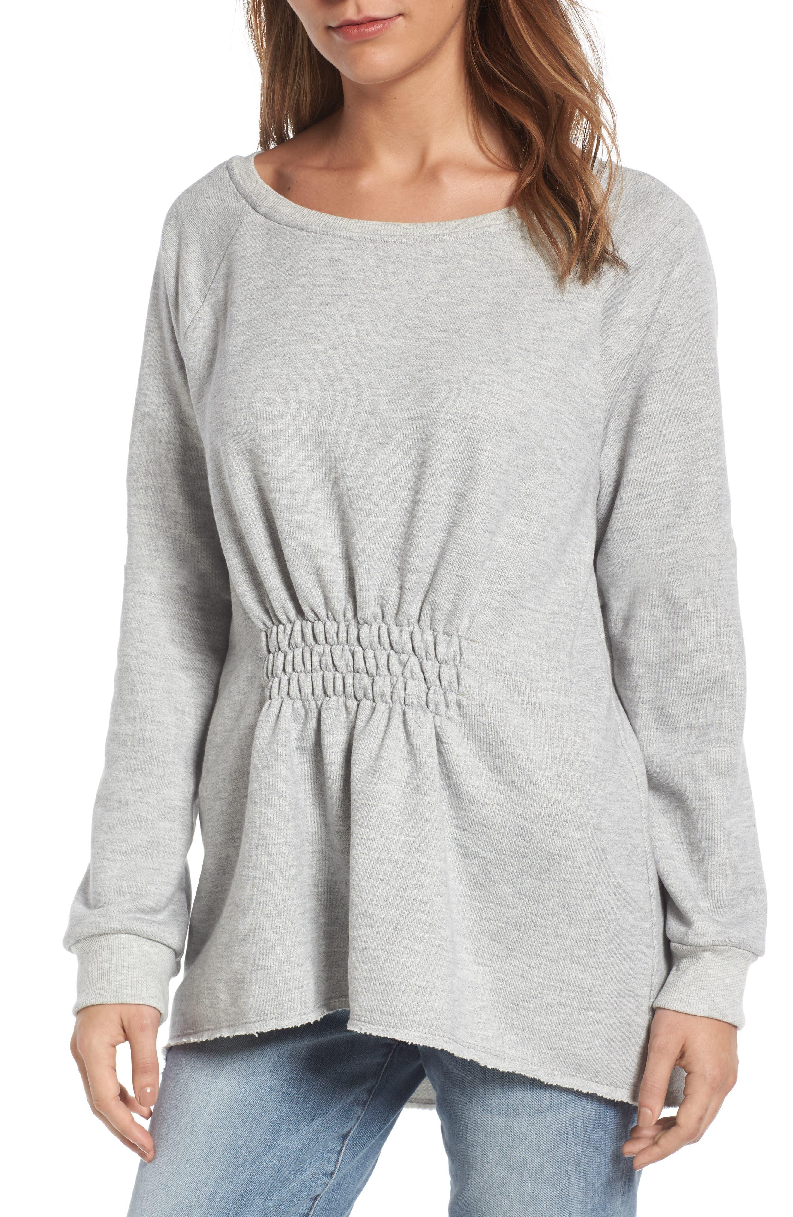 Gibson Gathered Front Sweatshirt (Regular & Petite)
