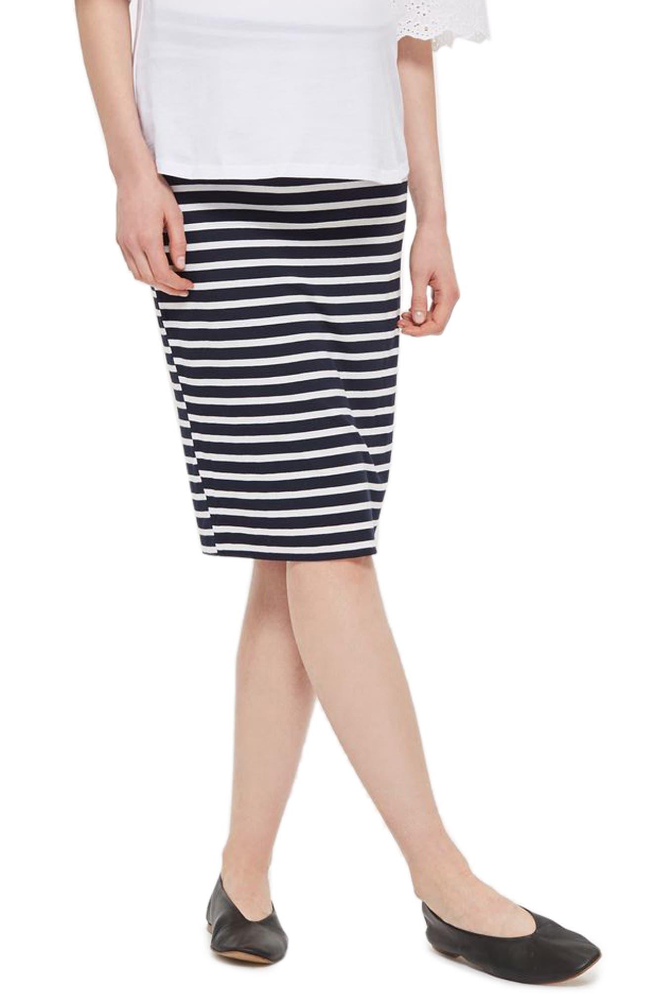 Topshop Stripe Maternity Tube Skirt